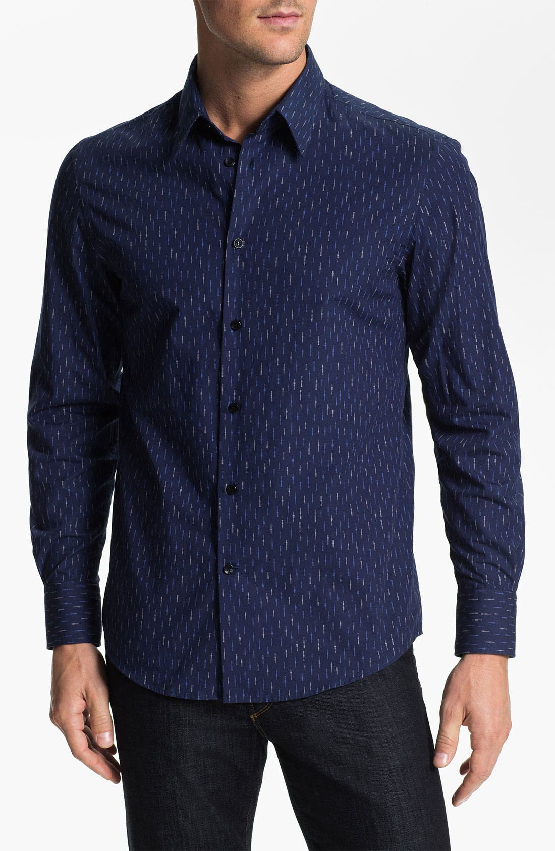 Alternate Image 1 Selected - Versace Trim Fit Sport Shirt