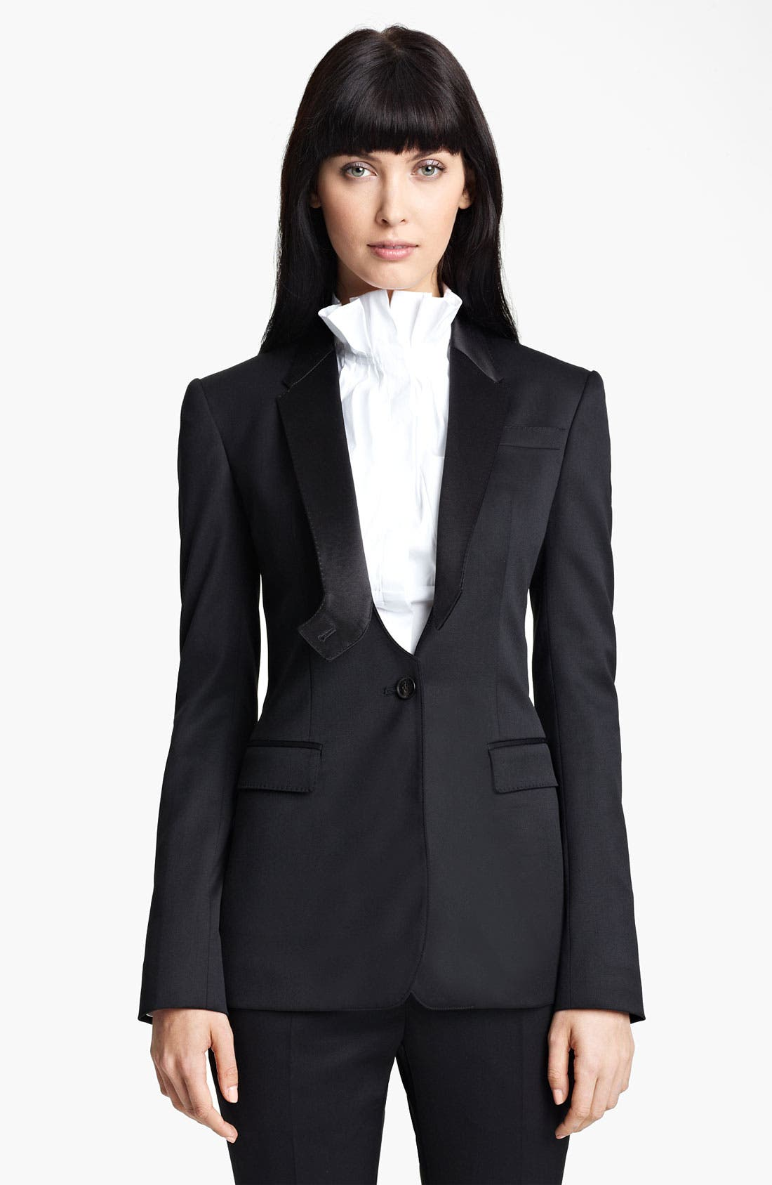 Main Image - Burberry Prorsum Stretch Wool Tuxedo Jacket