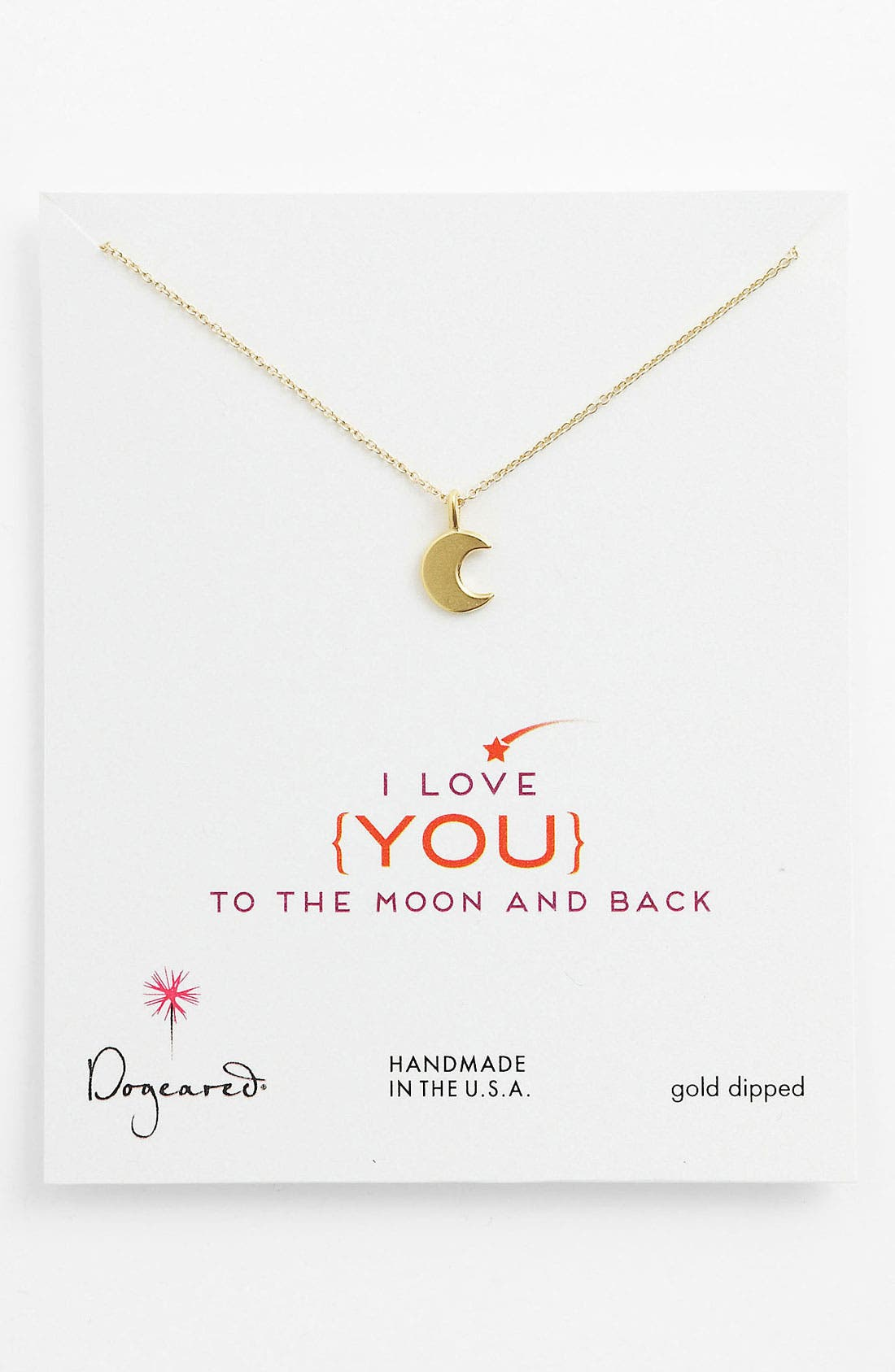 Main Image - Dogeared 'To the Moon & Back' Pendant Necklace
