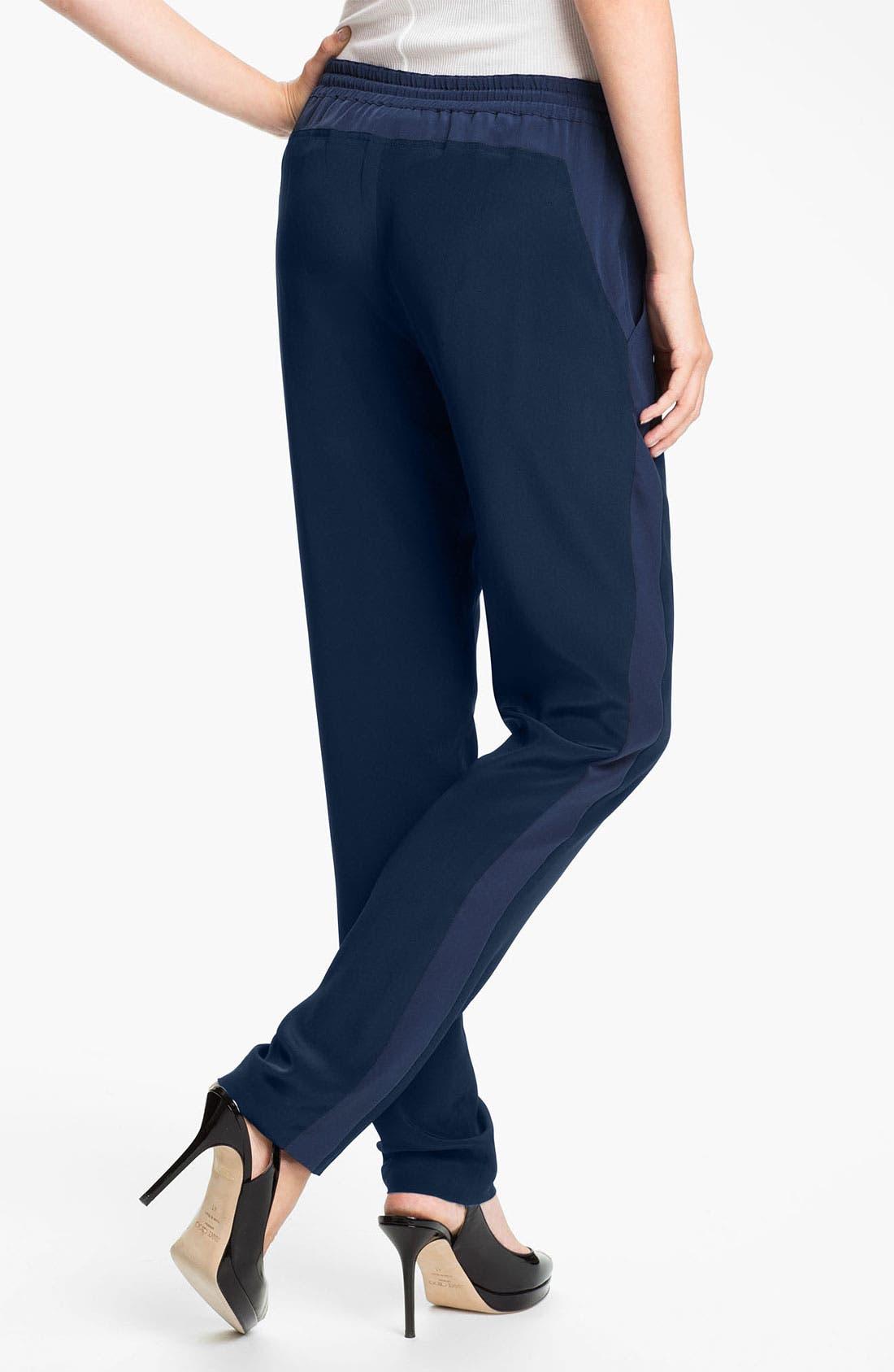 Alternate Image 2  - Vince 'Solid Track' Silk Lounge Pants