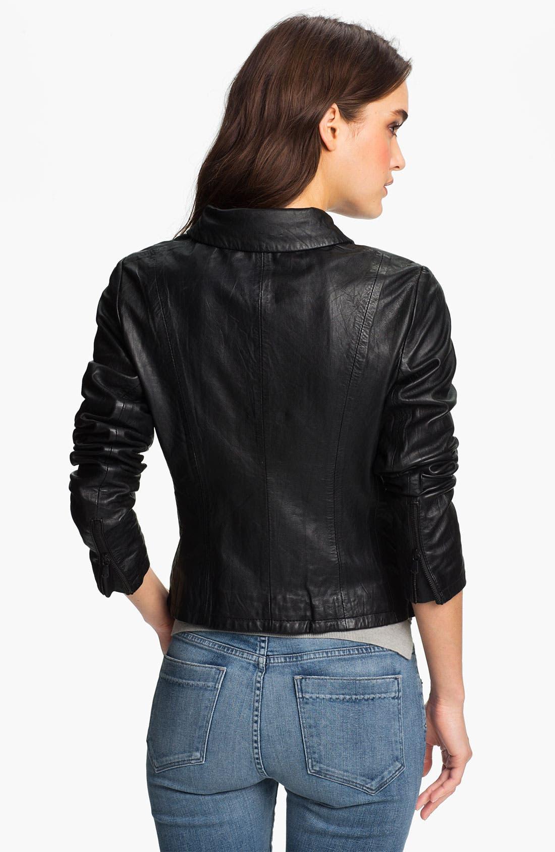 Alternate Image 2  - Paige Denim 'Ridley' Leather Biker Jacket