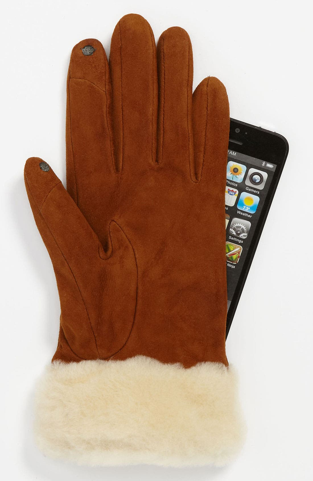 Alternate Image 2  - UGG® Australia 'Kotah Shorty' Tech Gloves (Nordstrom Exclusive)
