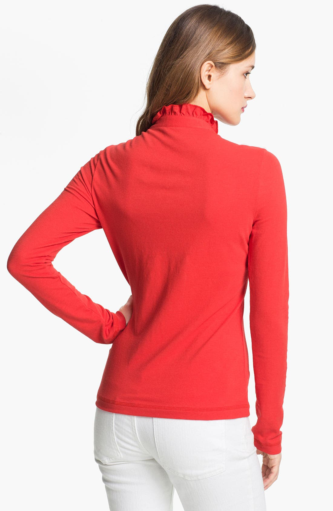 Alternate Image 2  - Tory Burch 'Lidia' Long Sleeve Polo