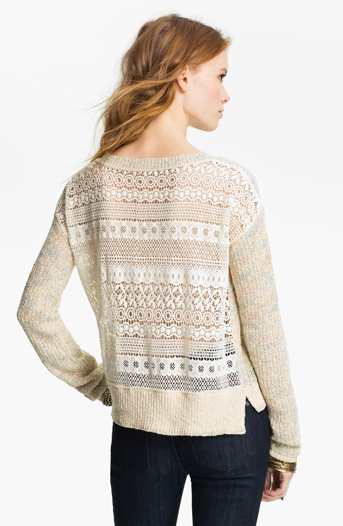Alternate Image 2  - Free People 'Sweet Jane' Lace Back Sweater