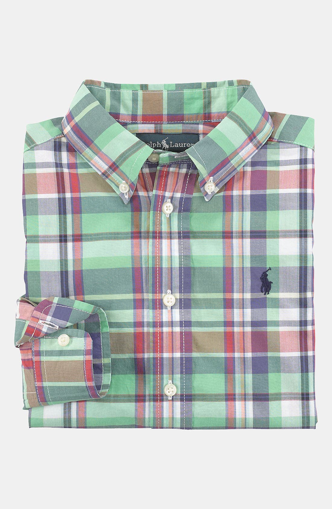 Alternate Image 1 Selected - Ralph Lauren Woven Shirt (Toddler)