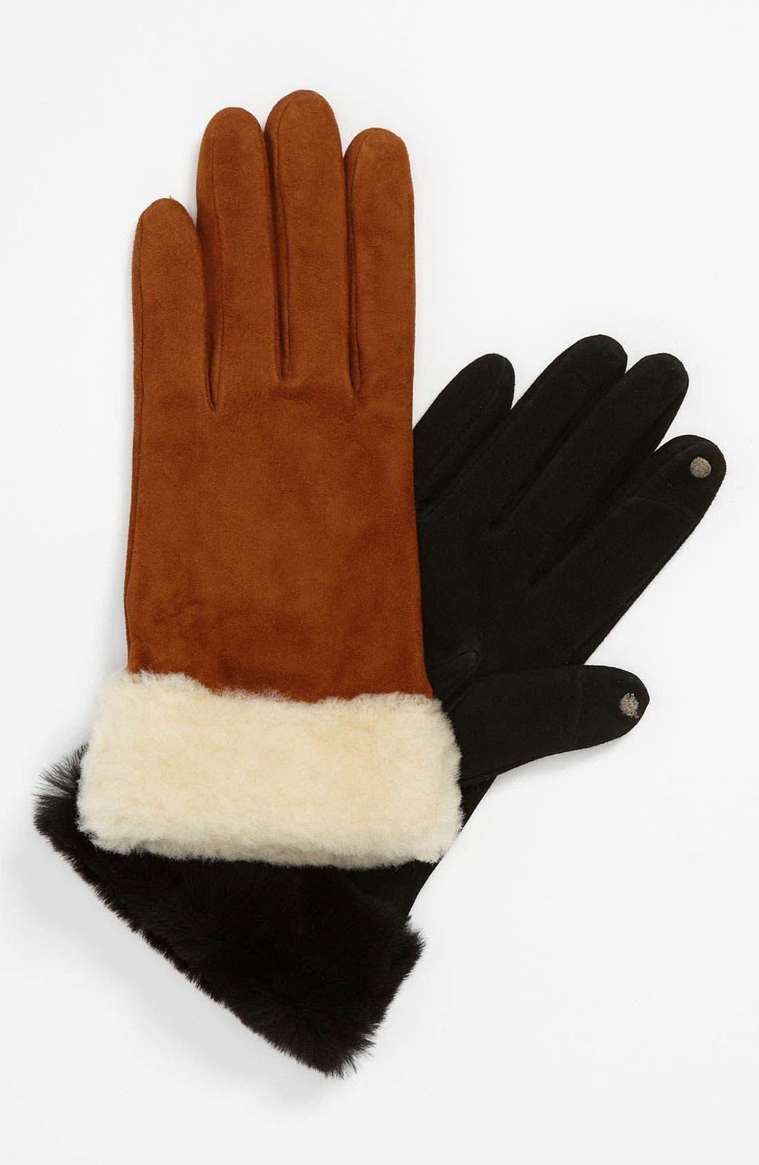 Alternate Image 1 Selected - UGG® Australia 'Kotah Shorty' Tech Gloves (Nordstrom Exclusive)