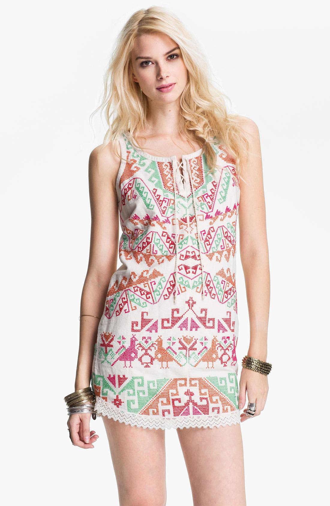 Alternate Image 1 Selected - Free People Andean Embroidered Minidress
