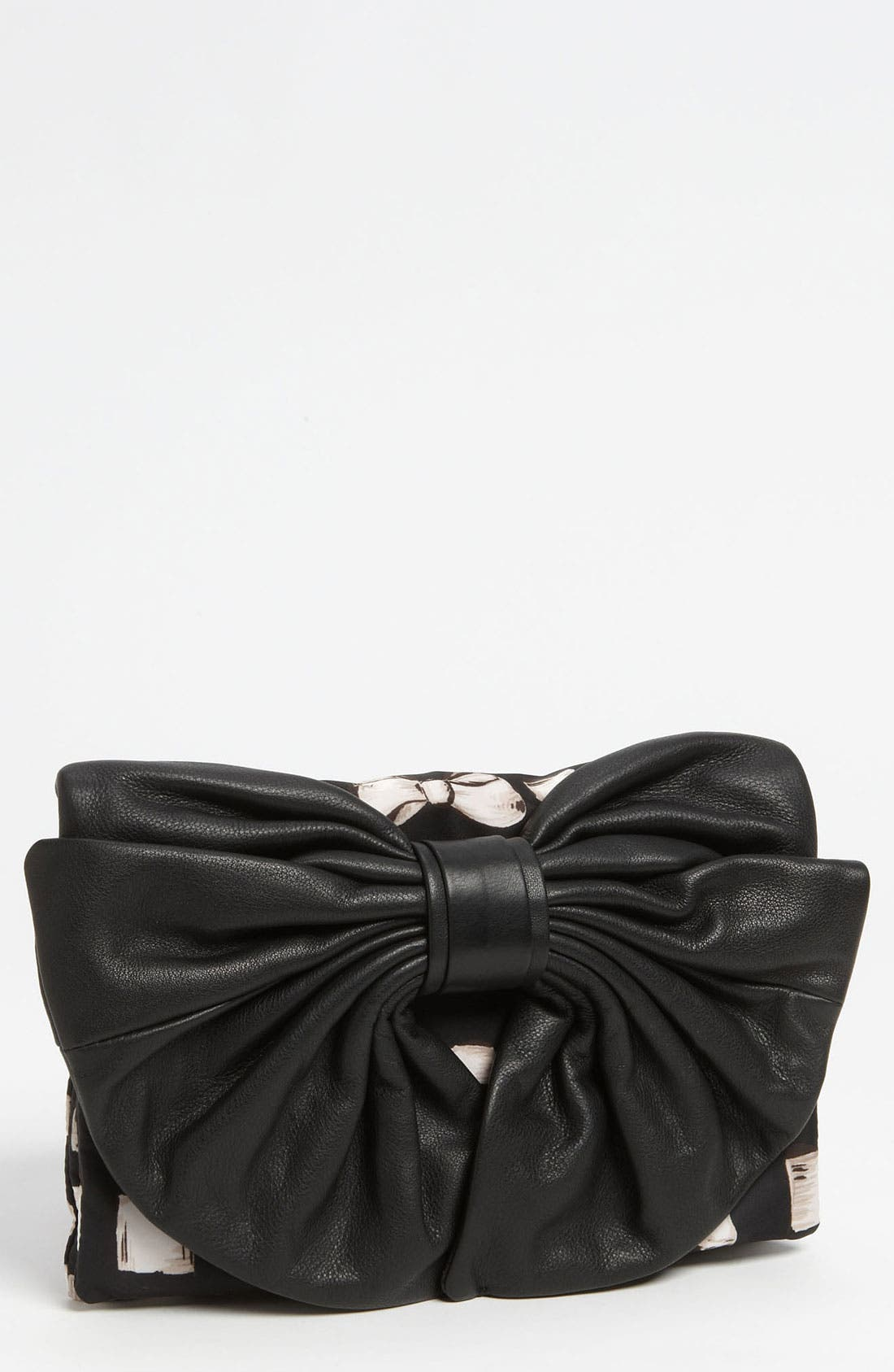 Alternate Image 1 Selected - RED Valentino 'Bow' Print Clutch