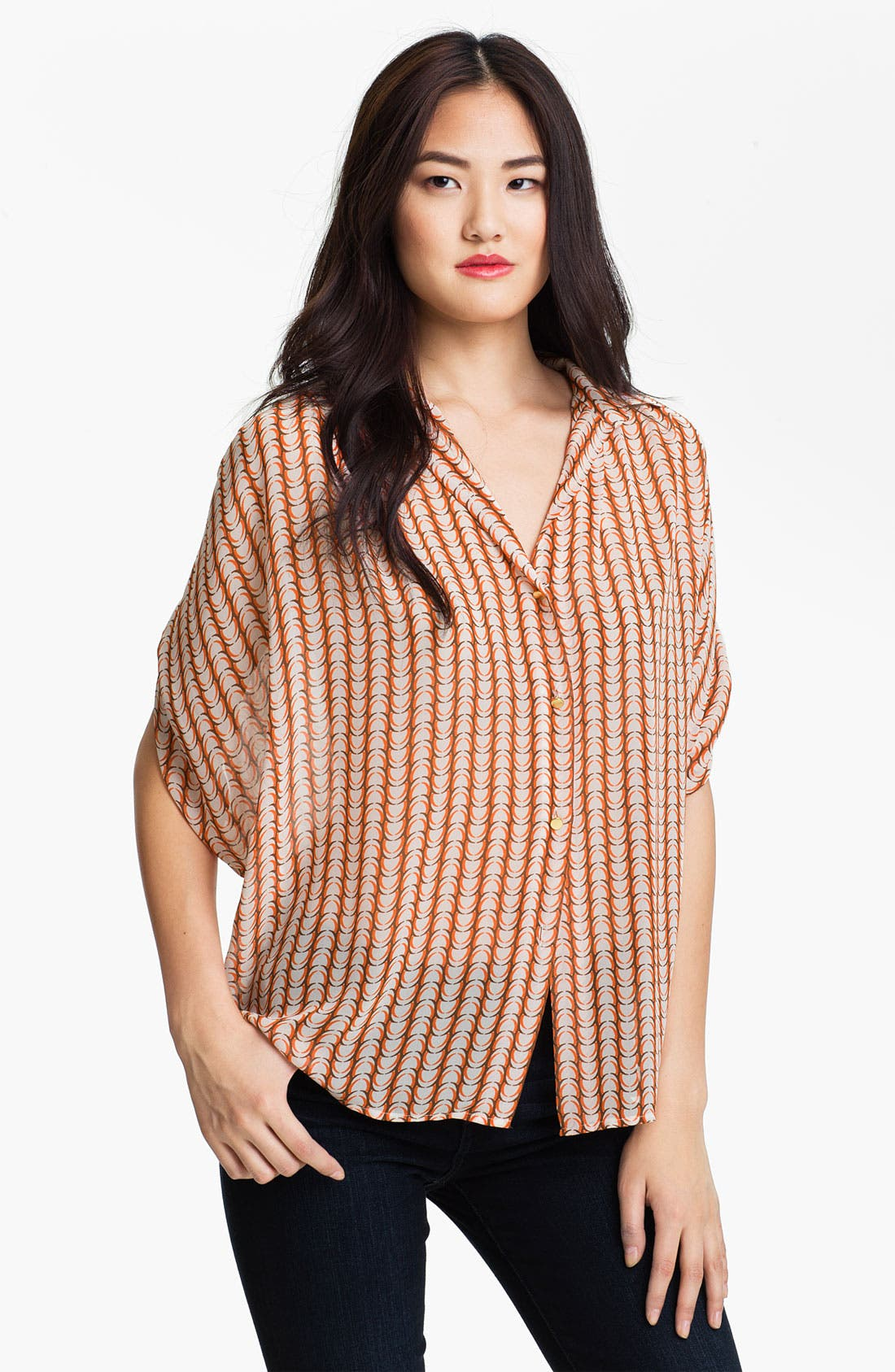 Alternate Image 1 Selected - Vince Camuto 'Arch Stripe' Blouse