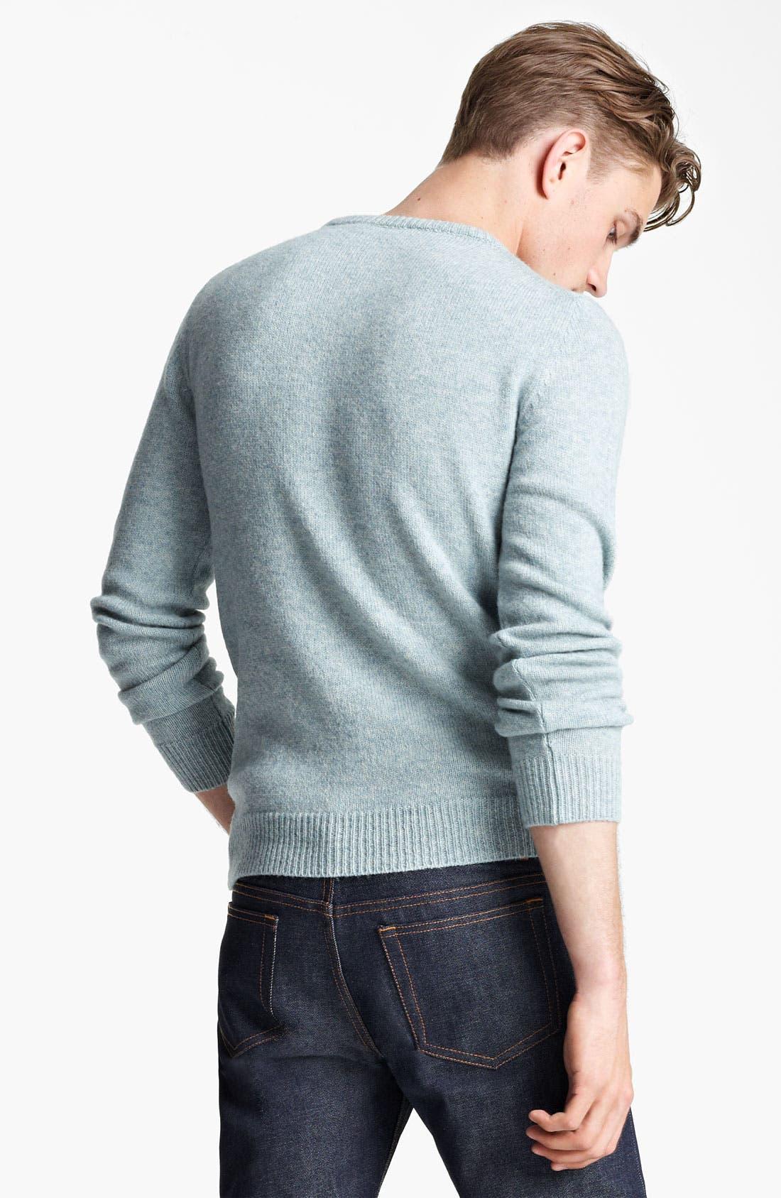Alternate Image 2  - A.P.C. Crewneck Sweater