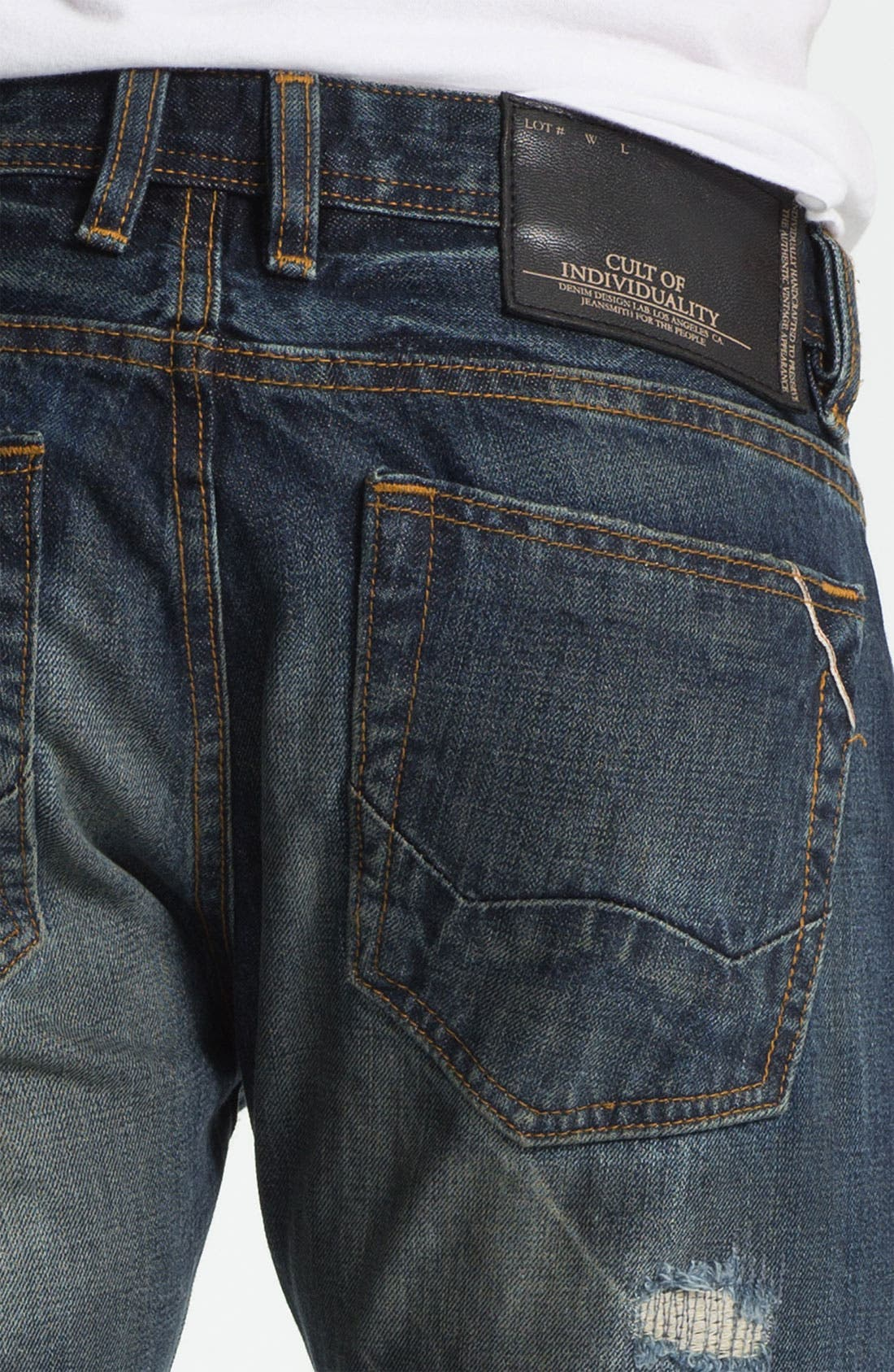 Alternate Image 4  - Cult of Individuality 'Rebel' Straight Leg Jeans (Greaser)