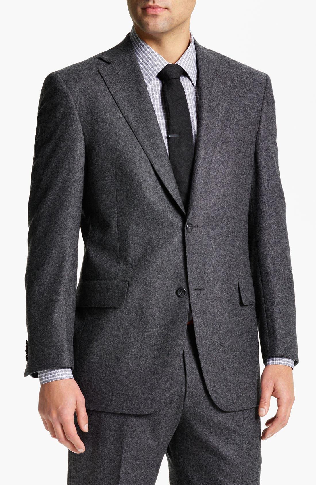 Main Image - Hart Schaffner Marx Flannel Suit