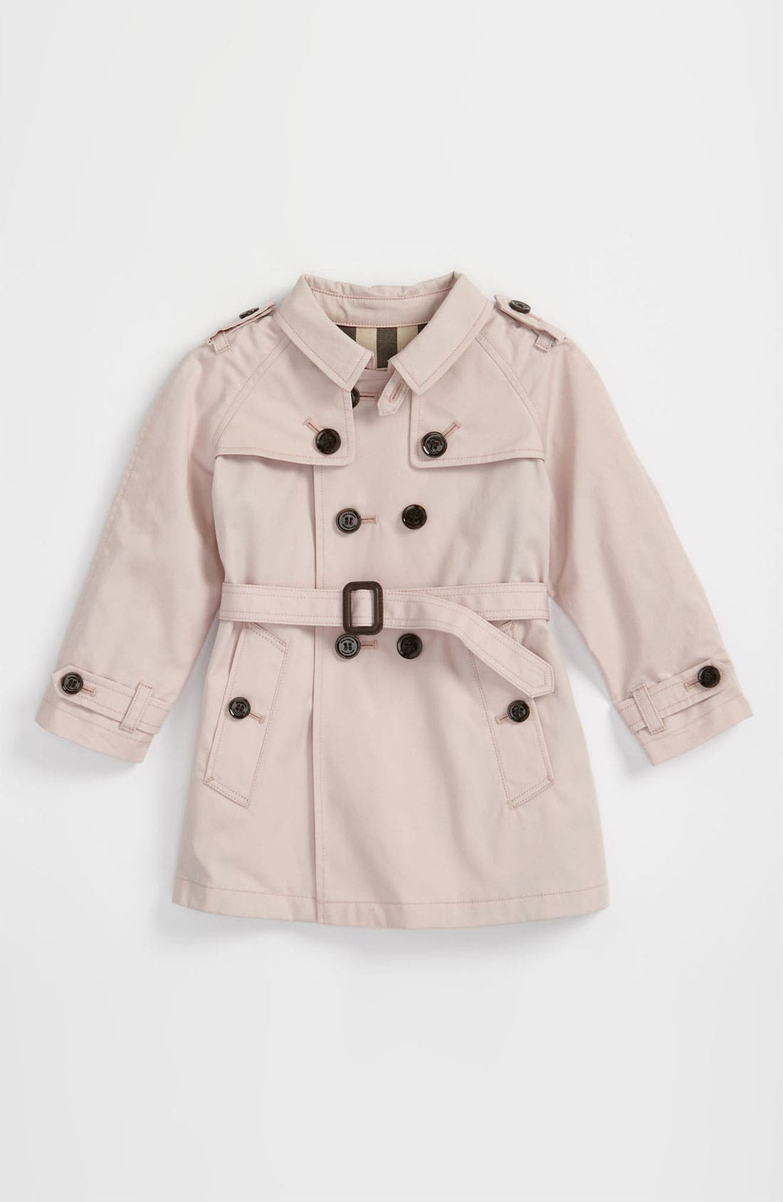 Main Image - Burberry Double Breasted Trench Coat (Infant)