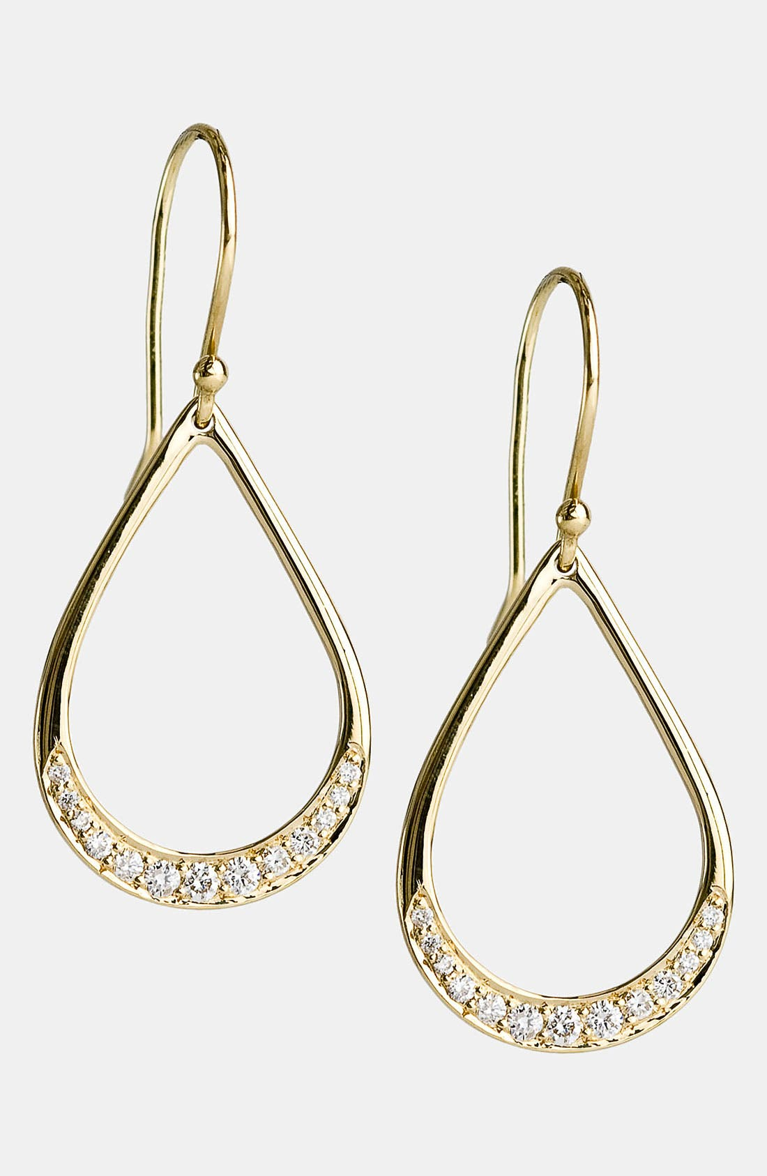 Alternate Image 1 Selected - Ippolita 'Stardust - Mini Elliptical Teardrop' 18k Gold Earrings