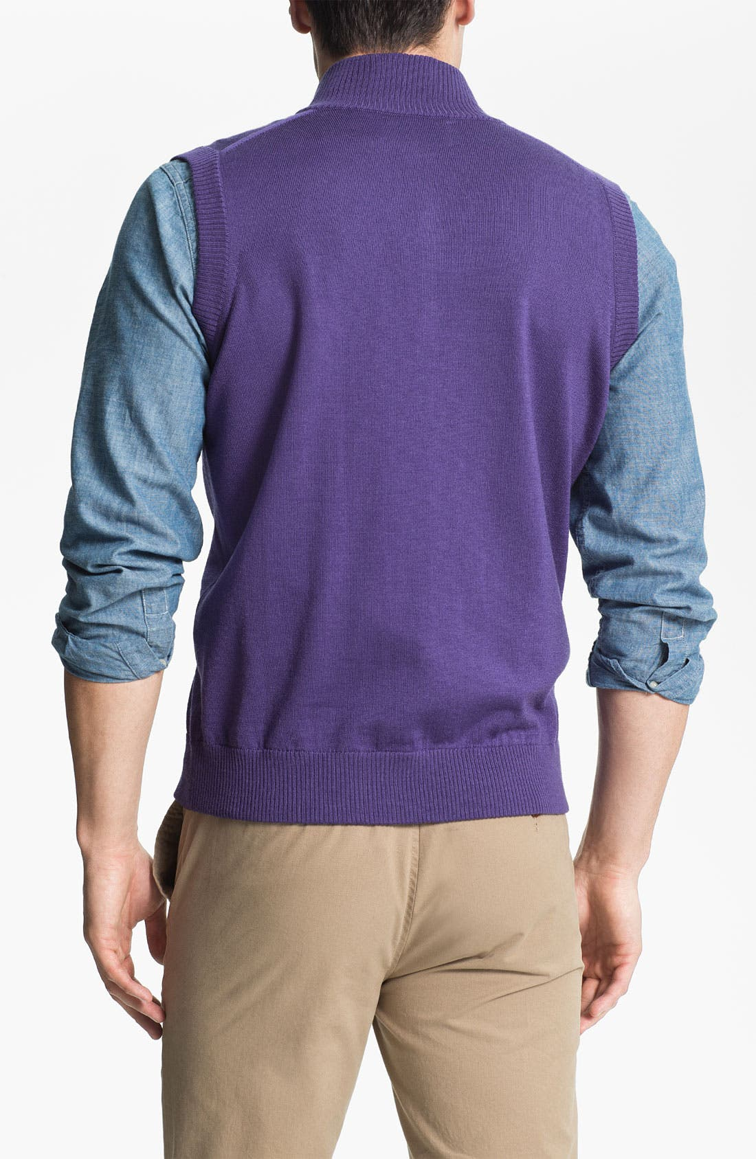 Alternate Image 2  - WASHINGTON 1/4 ZIP SWEATER VEST