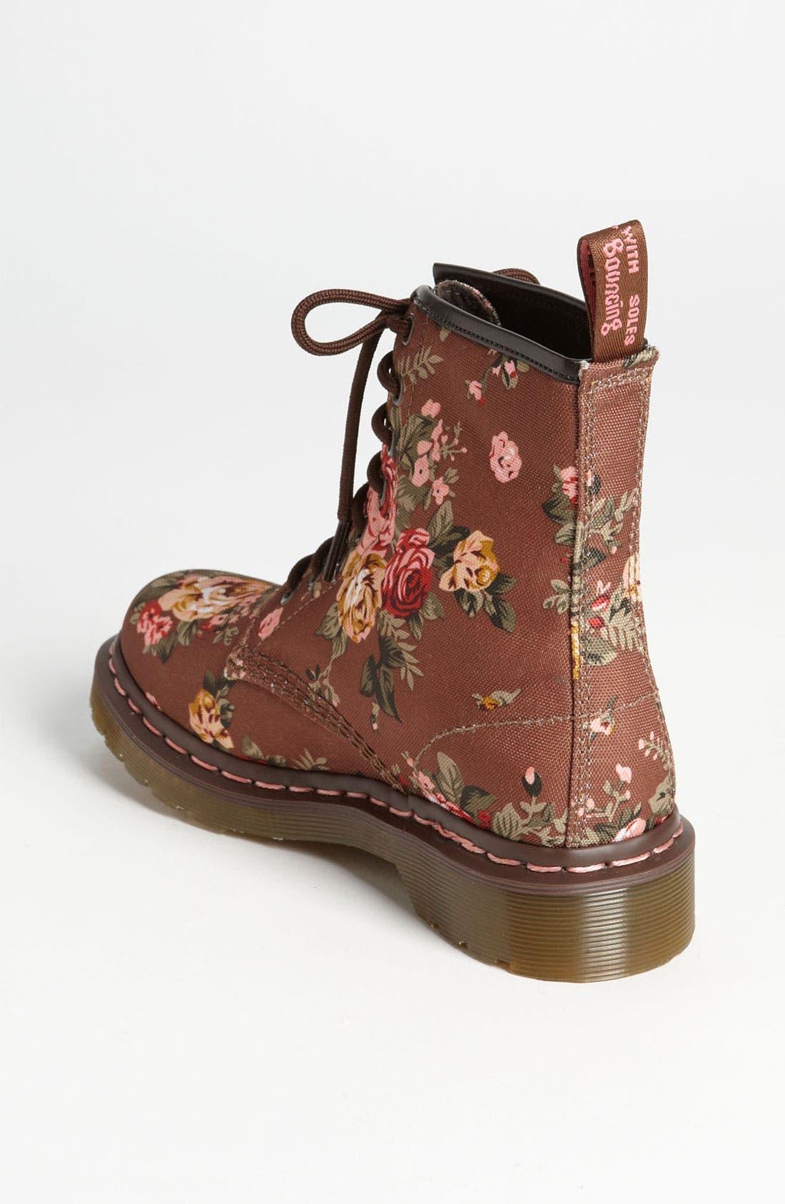 Alternate Image 2  - Dr. Martens '8-Eye Victorian Flowers' Boot (Women)