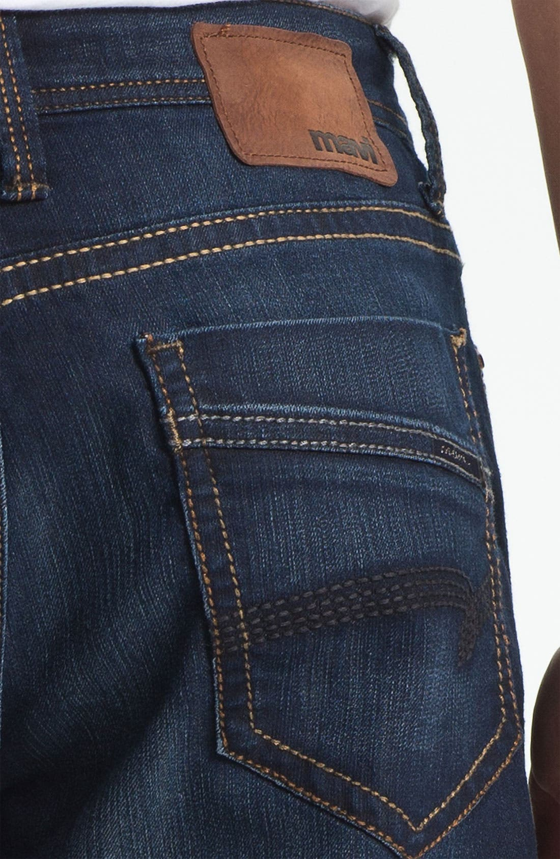 Alternate Image 4  - Mavi Jeans 'Matt' Relaxed Straight Leg Jeans (Deep Eastwood)