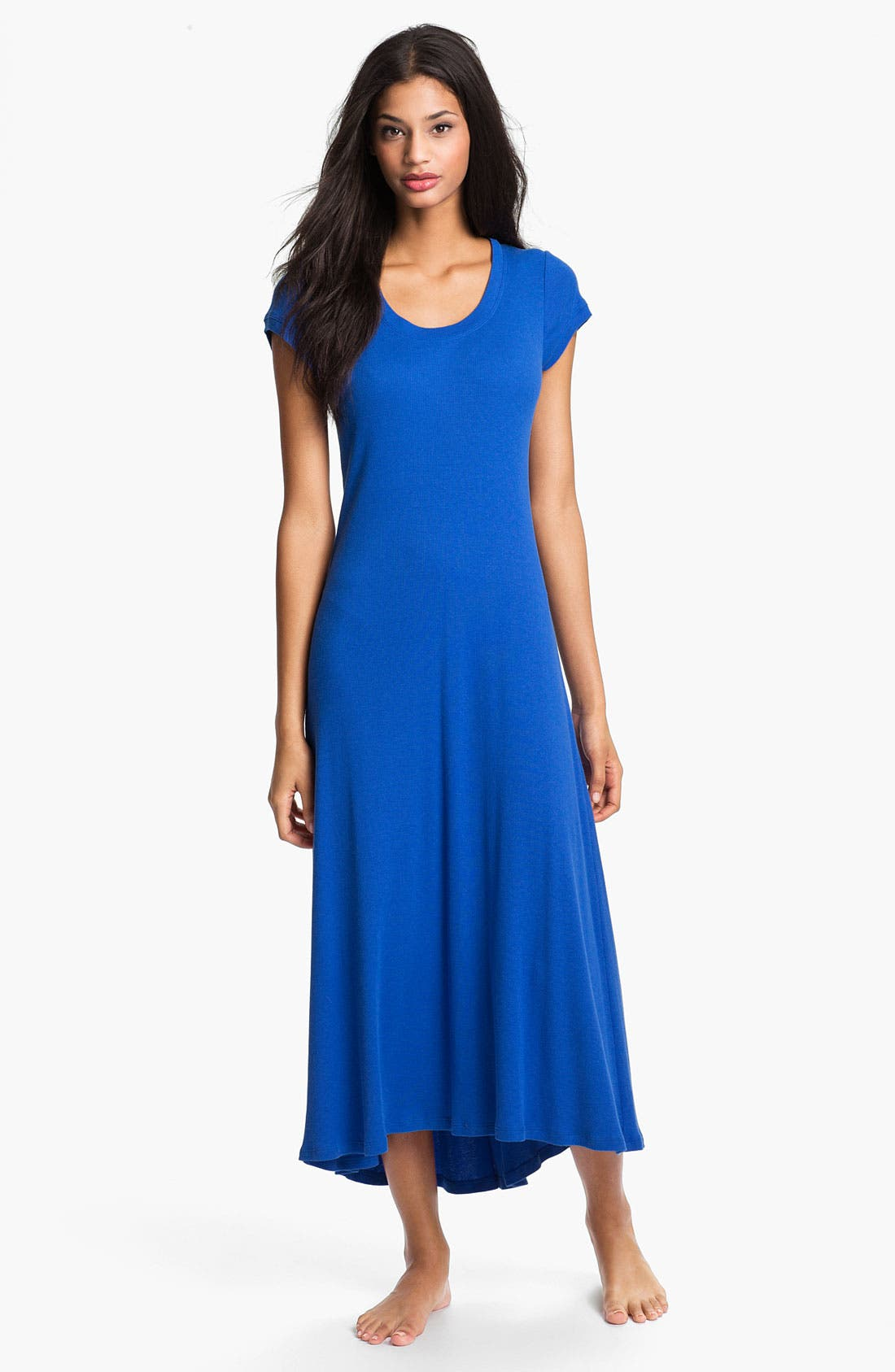 Alternate Image 1 Selected - Lauren Ralph Lauren Cap Sleeve Maxi Gown