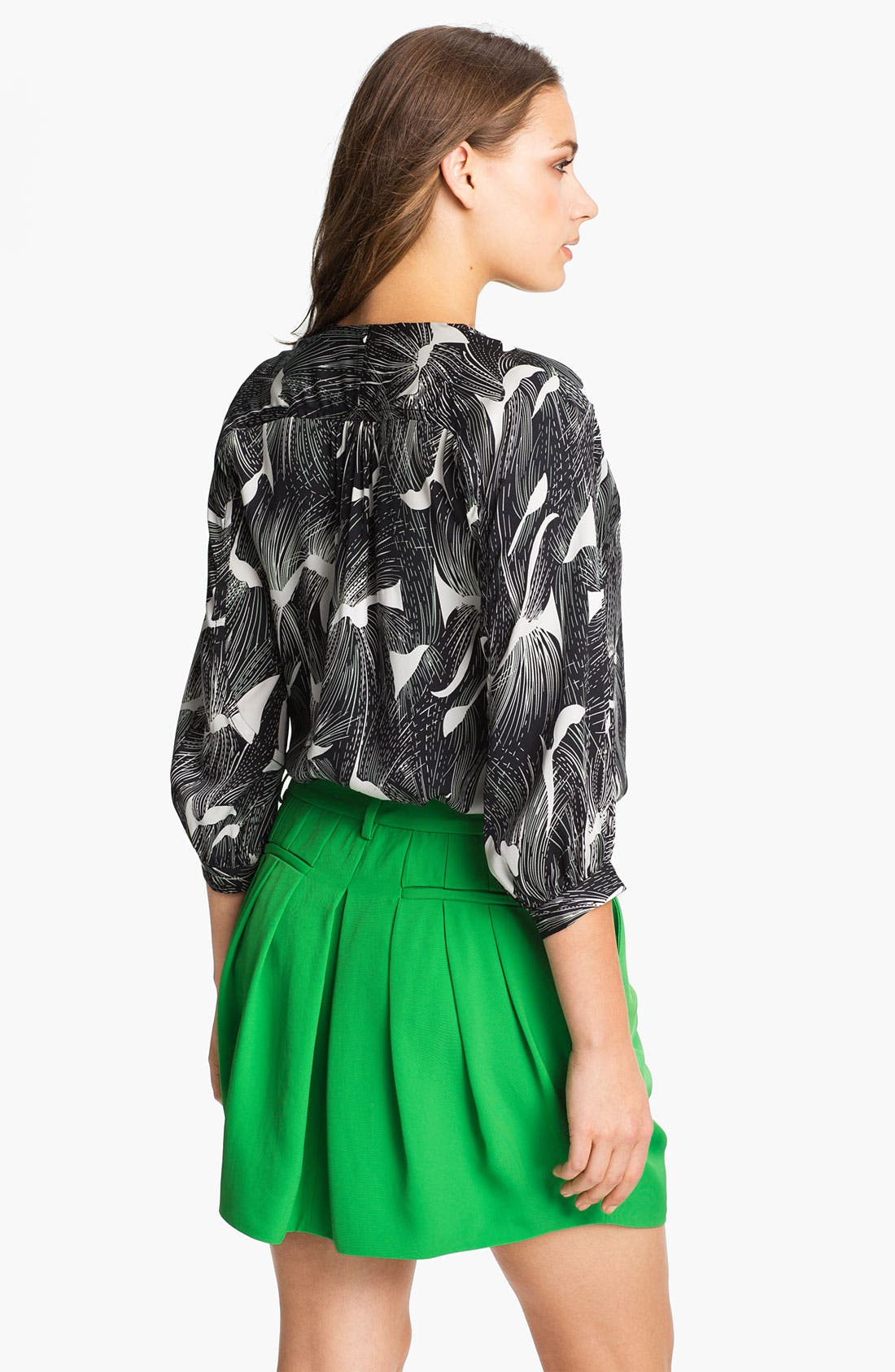 Alternate Image 2  - Diane von Furstenberg 'Cahil' Stretch Silk Blouse