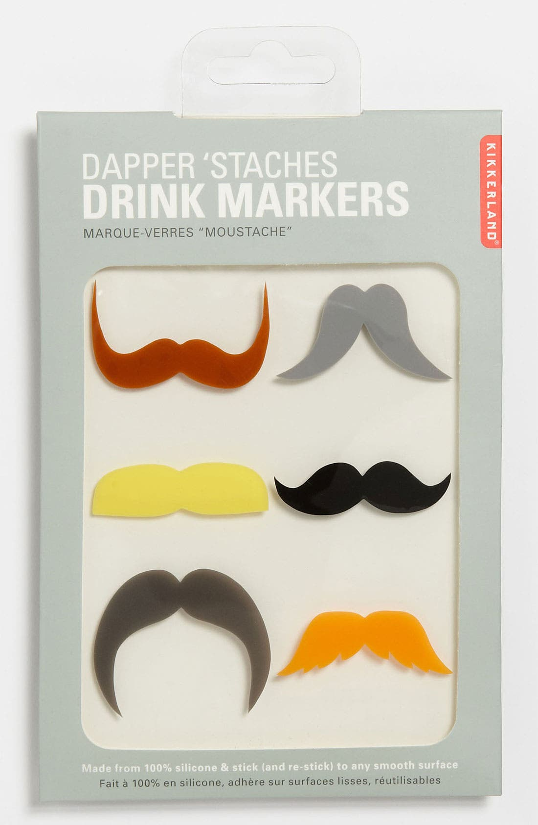 Main Image - Kikkerland Design 'Mustache' Drink Markers (Set of 6)