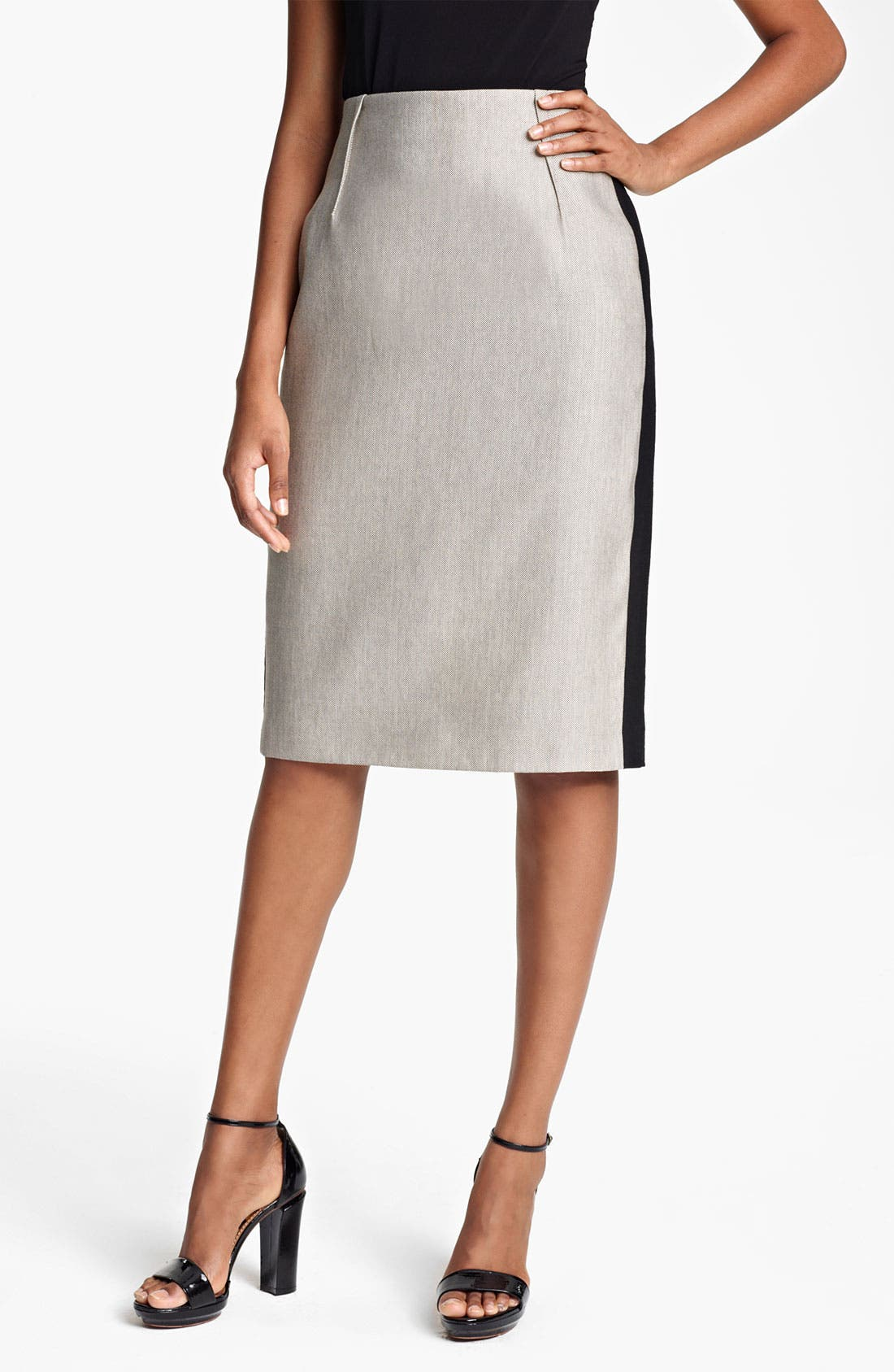 Alternate Image 1 Selected - Lida Baday Raffia Pencil Skirt