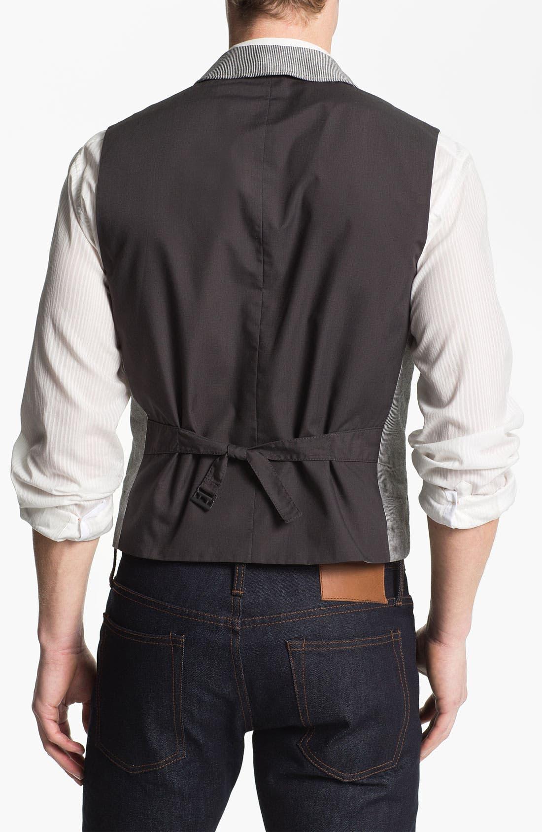 Alternate Image 2  - John Varvatos Star USA Wire Lapel Vest