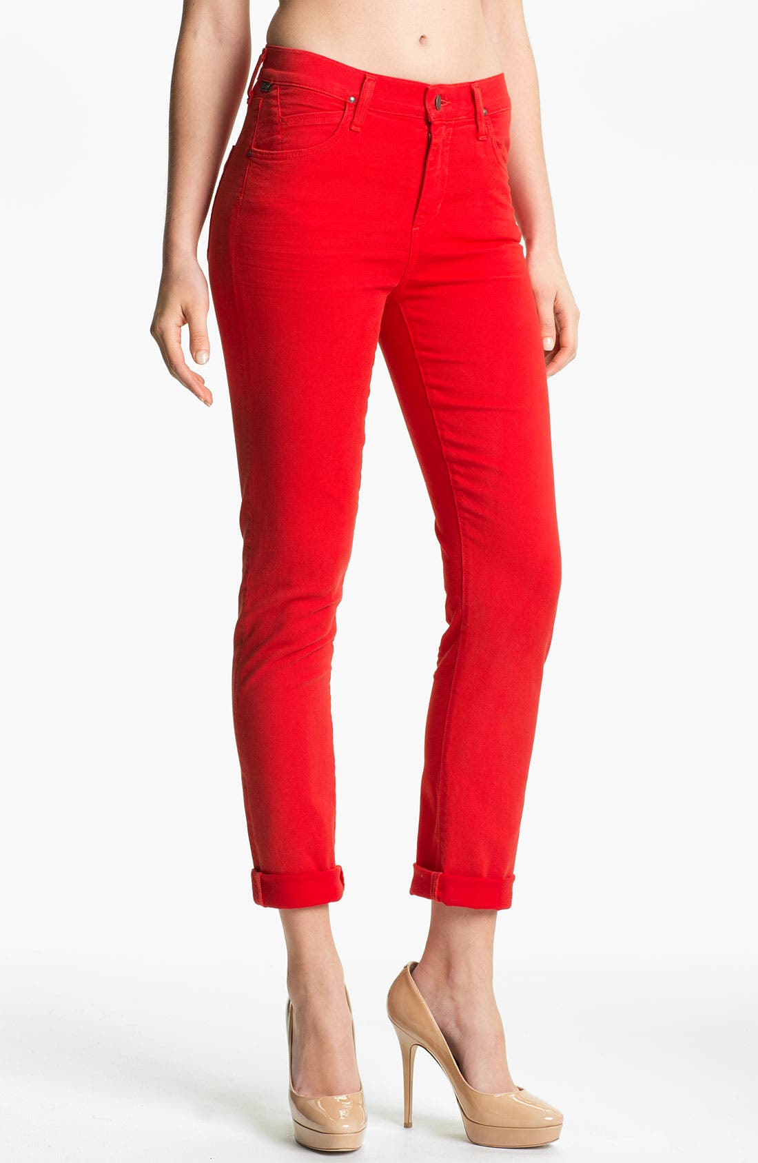Main Image - Citizens of Humanity 'Carlton' Crop Skinny Jeans (Villa Red)