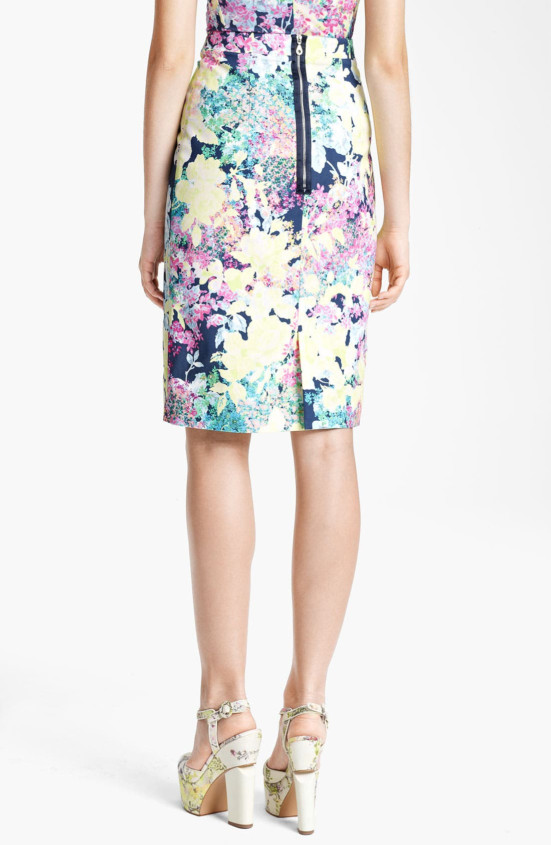Alternate Image 2  - Erdem 'Imperial Rose' Print Pencil Skirt