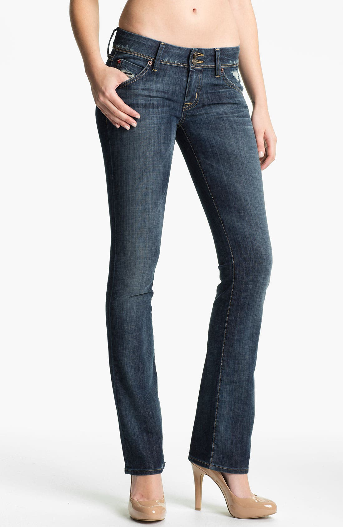 Alternate Image 1 Selected - Hudson Jeans 'Beth' Baby Bootcut Jeans (Whitcomb)