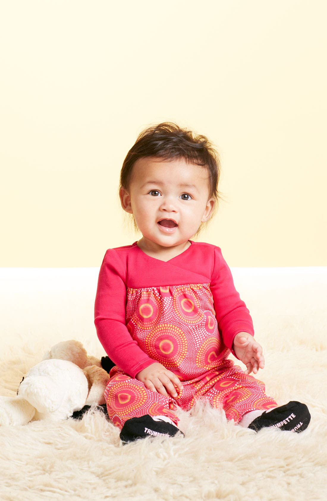 Main Image - Tea Collection Coveralls & Trumpette Socks (Infant)