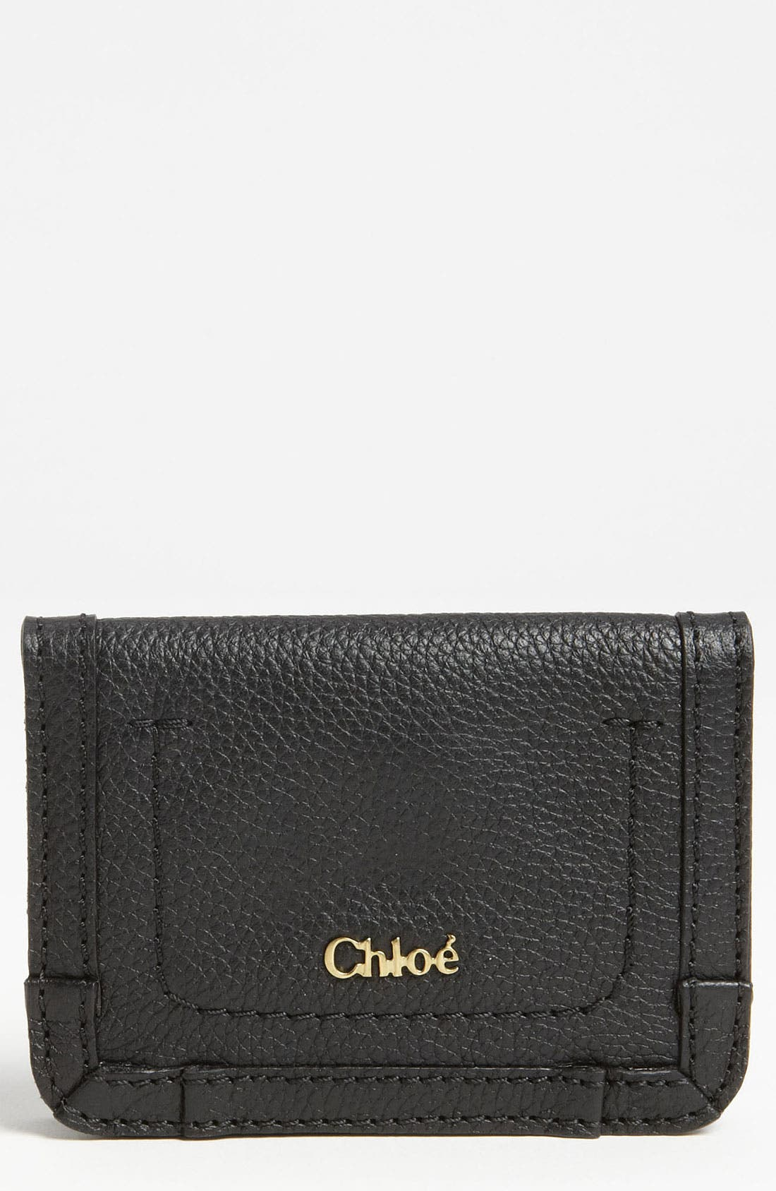 Alternate Image 1 Selected - Chloé 'Paraty' Leather Card Holder