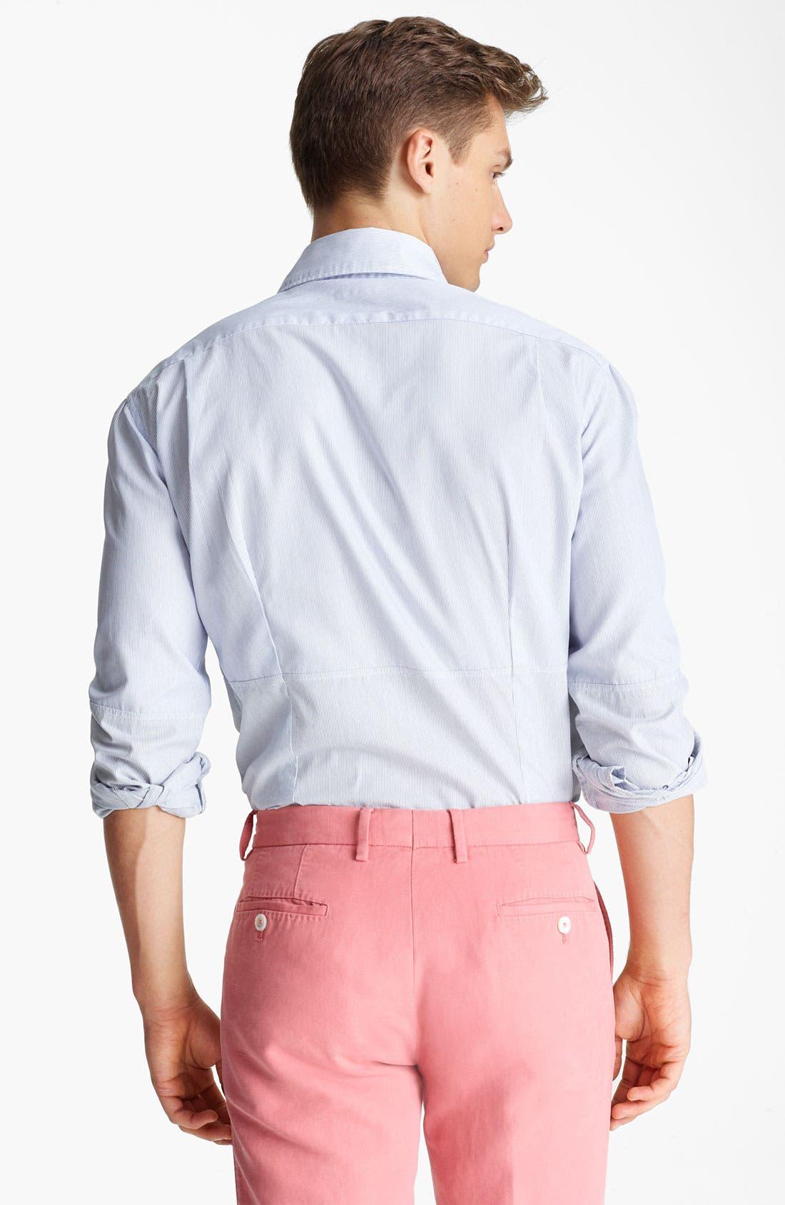 Alternate Image 2  - Michael Bastian Pieced Stripe Woven Shirt