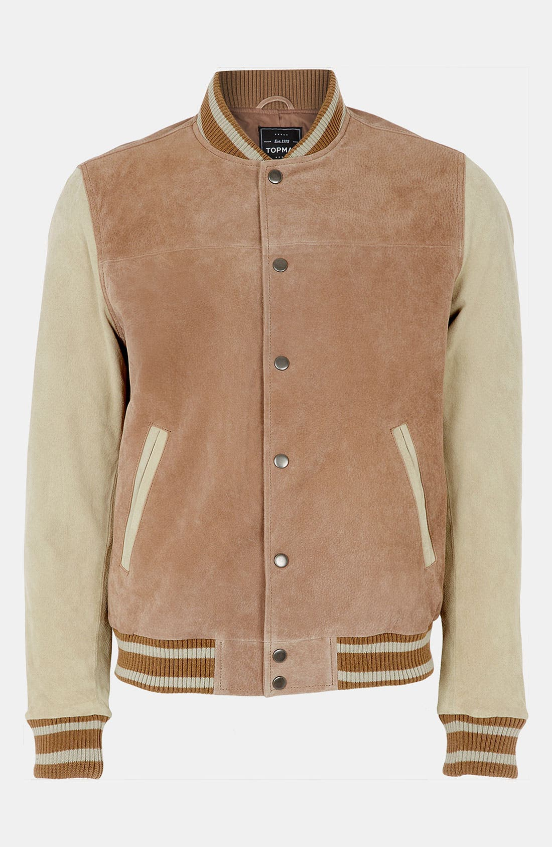 Alternate Image 1 Selected - Topman 'Yale' Varsity Jacket