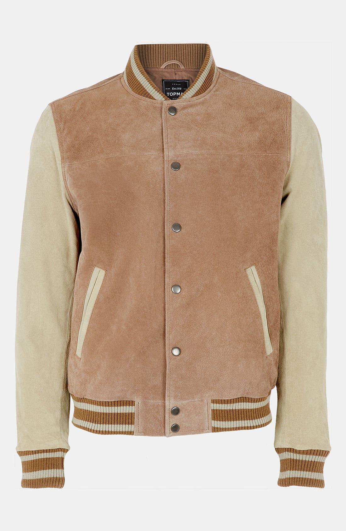 Main Image - Topman 'Yale' Varsity Jacket