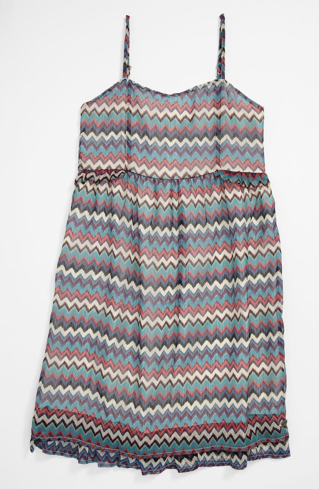 Alternate Image 1 Selected - Woven Dress (Big Girls)