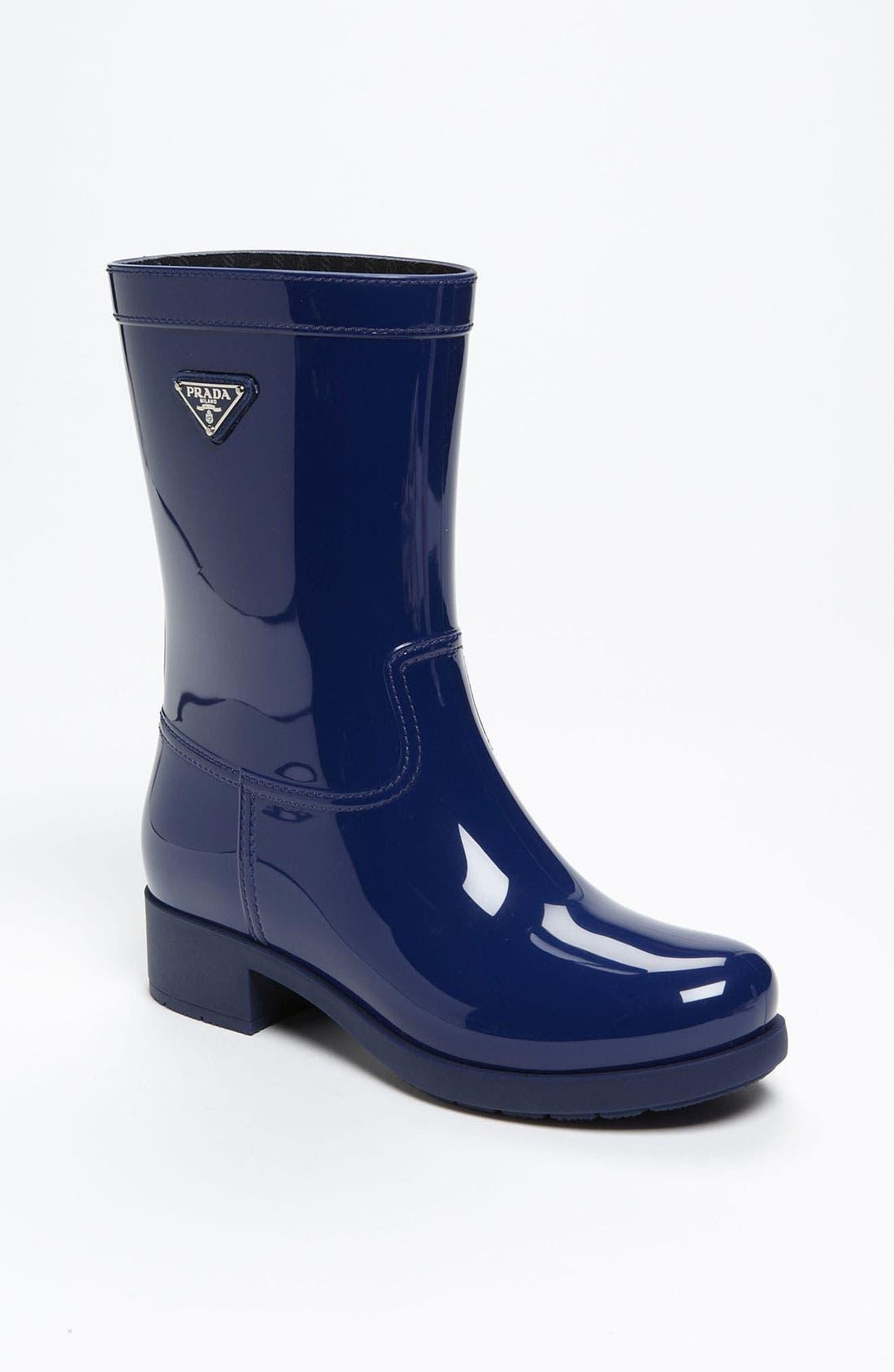 Alternate Image 1 Selected - Prada Rubber Rain Boot (Women)