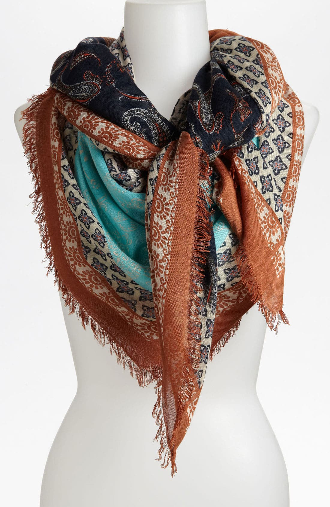 Alternate Image 1 Selected - Tarnish Paisley Patchwork Scarf