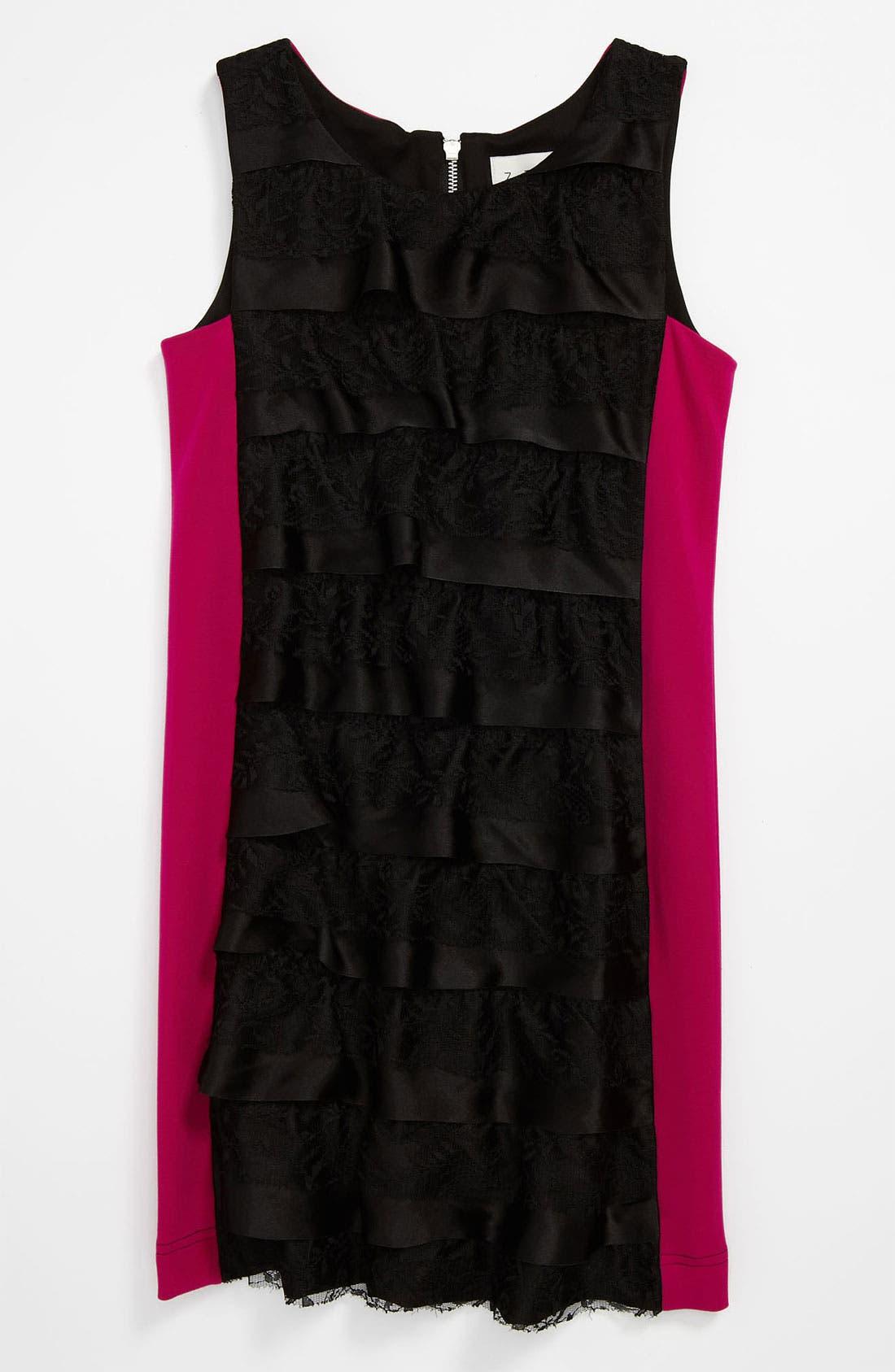 Alternate Image 1 Selected - Z by Zoe Ruffle Dress (Big Girls)