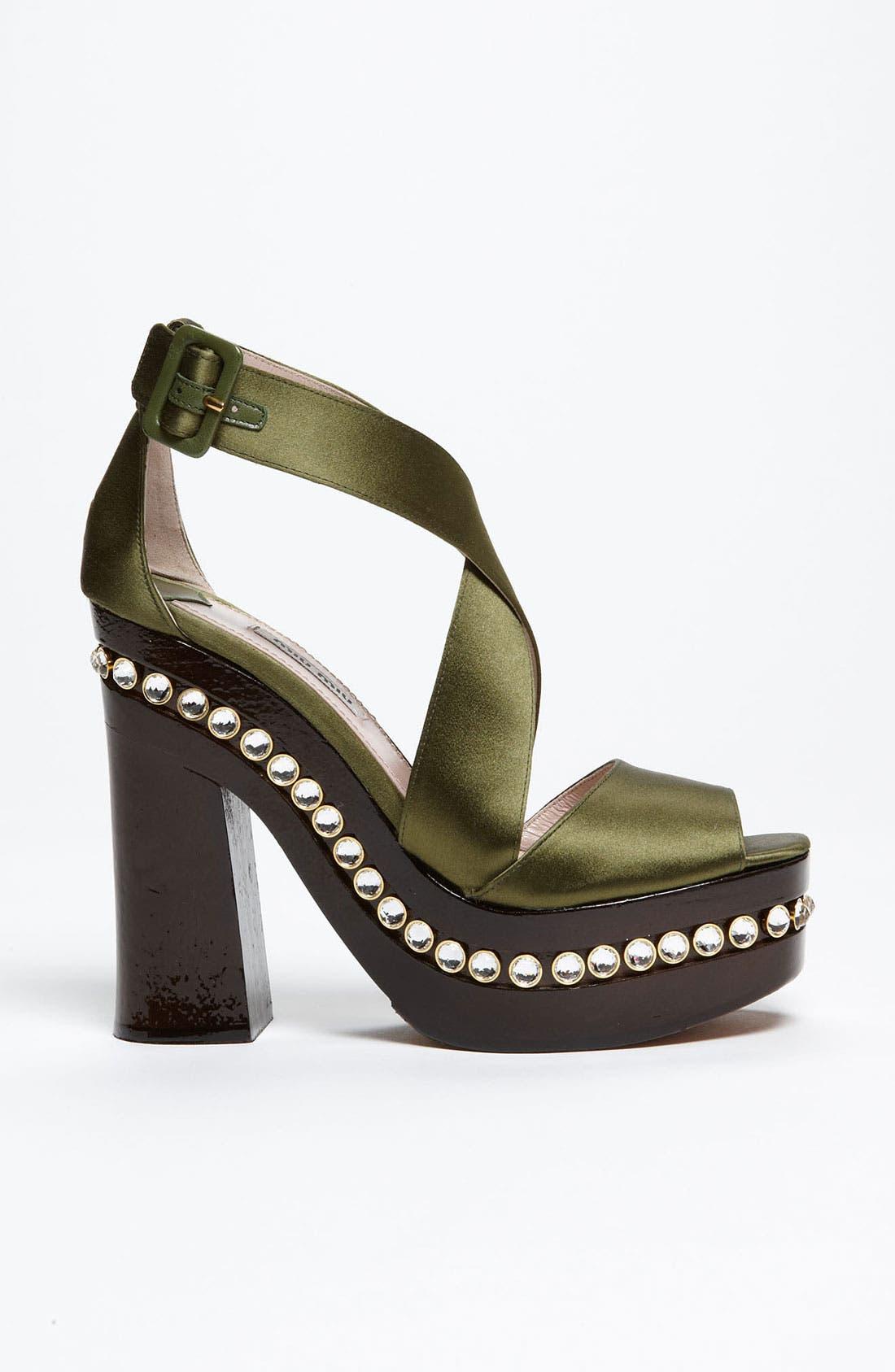 Alternate Image 4  - Miu Miu Crystal Clog Sandal