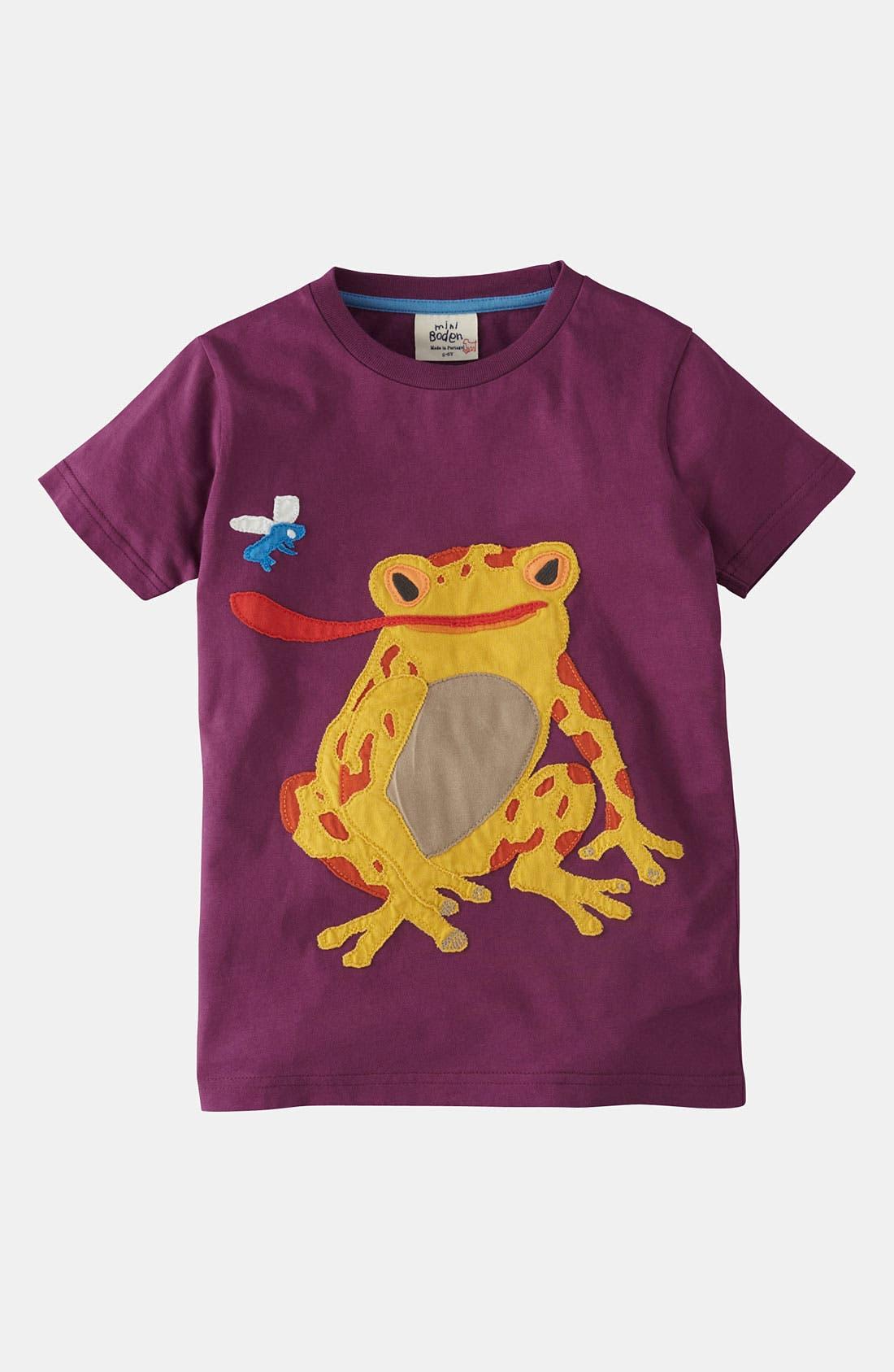 Main Image - Mini Boden 'Big Appliqué' T-Shirt (Little Boys & Big Boys)