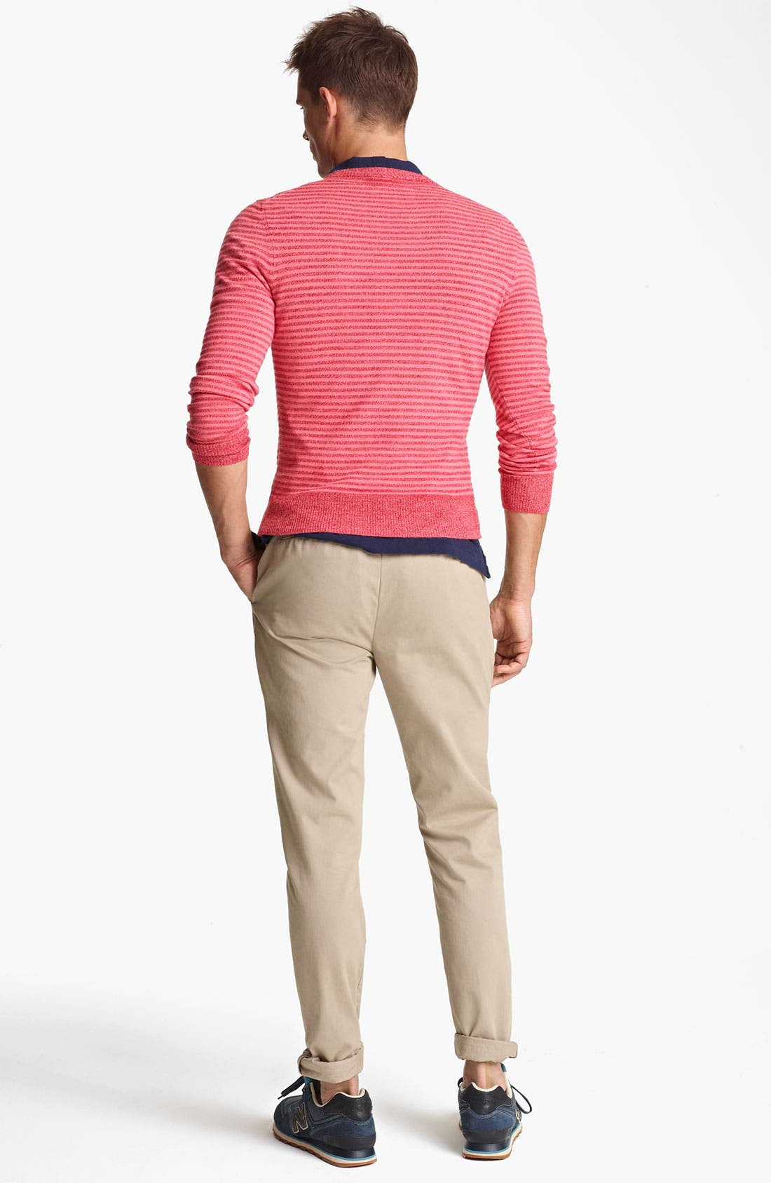 Alternate Image 5  - Jack Spade 'Judson' Stripe Merino Wool Crewneck Sweater