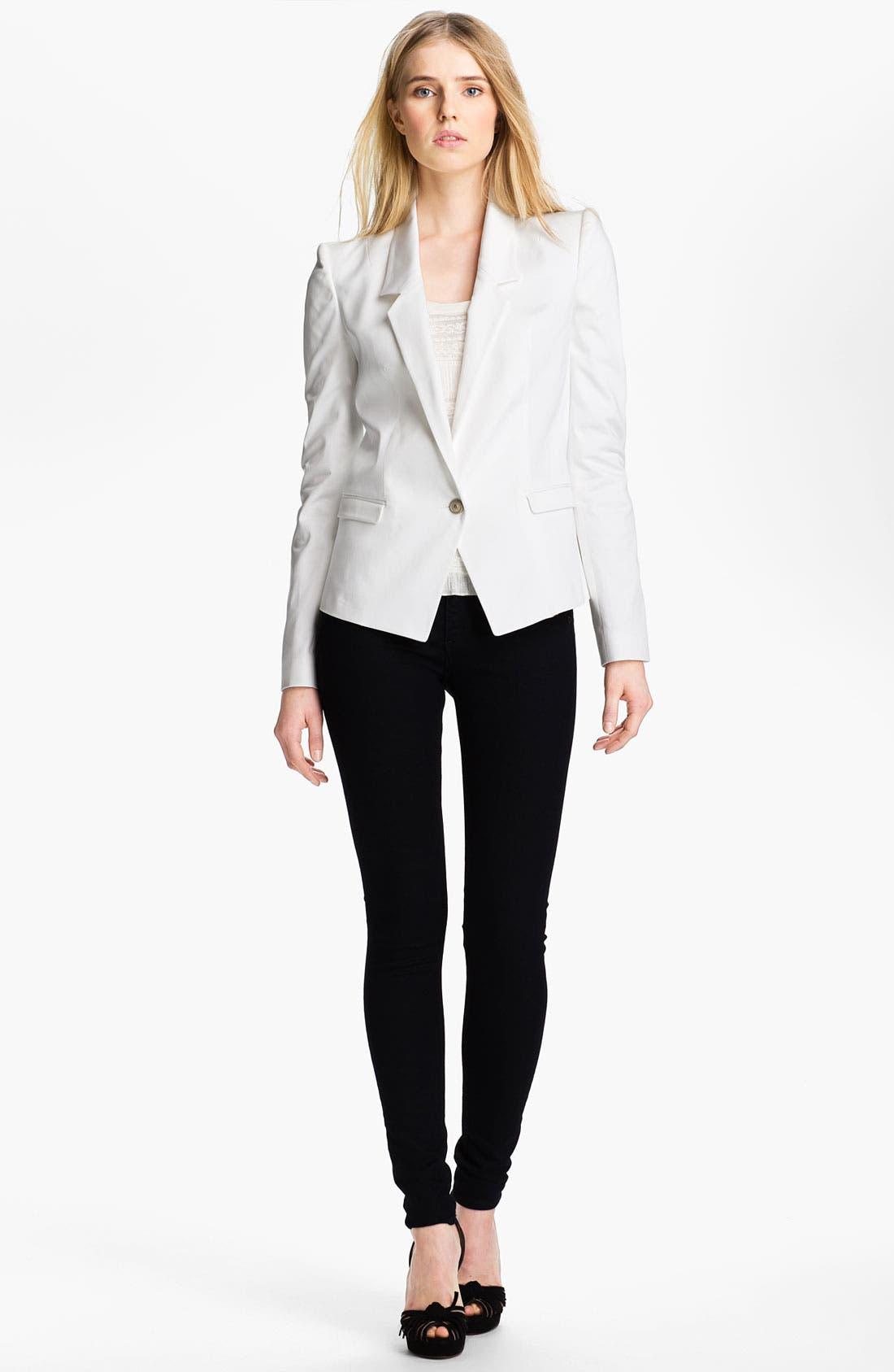 Alternate Image 1 Selected - Just Cavalli Leopard Lined Cotton Blazer