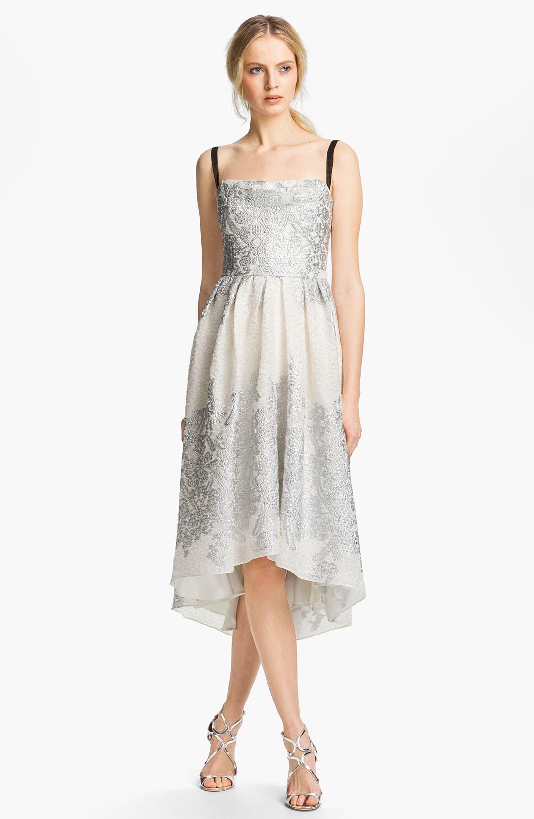 Main Image - Lela Rose Short Brocade Gown