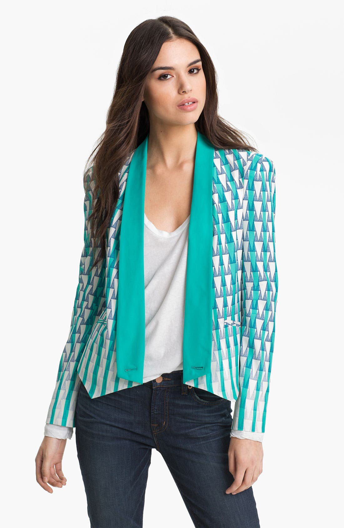Alternate Image 1 Selected - Rebecca Minkoff 'Becky' Silk Jacket