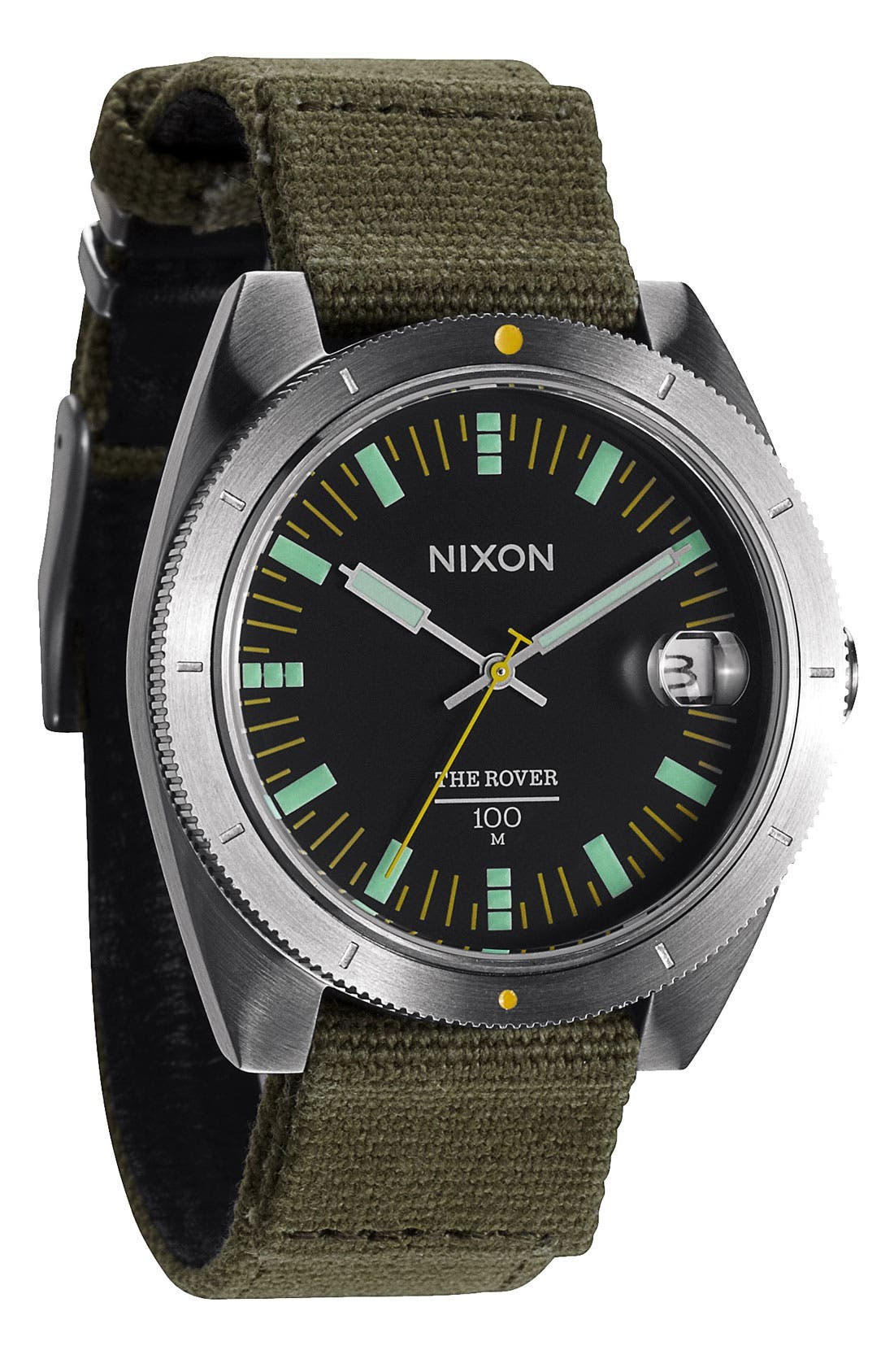 Main Image - Nixon 'The Rover' Canvas Strap Watch, 42mm