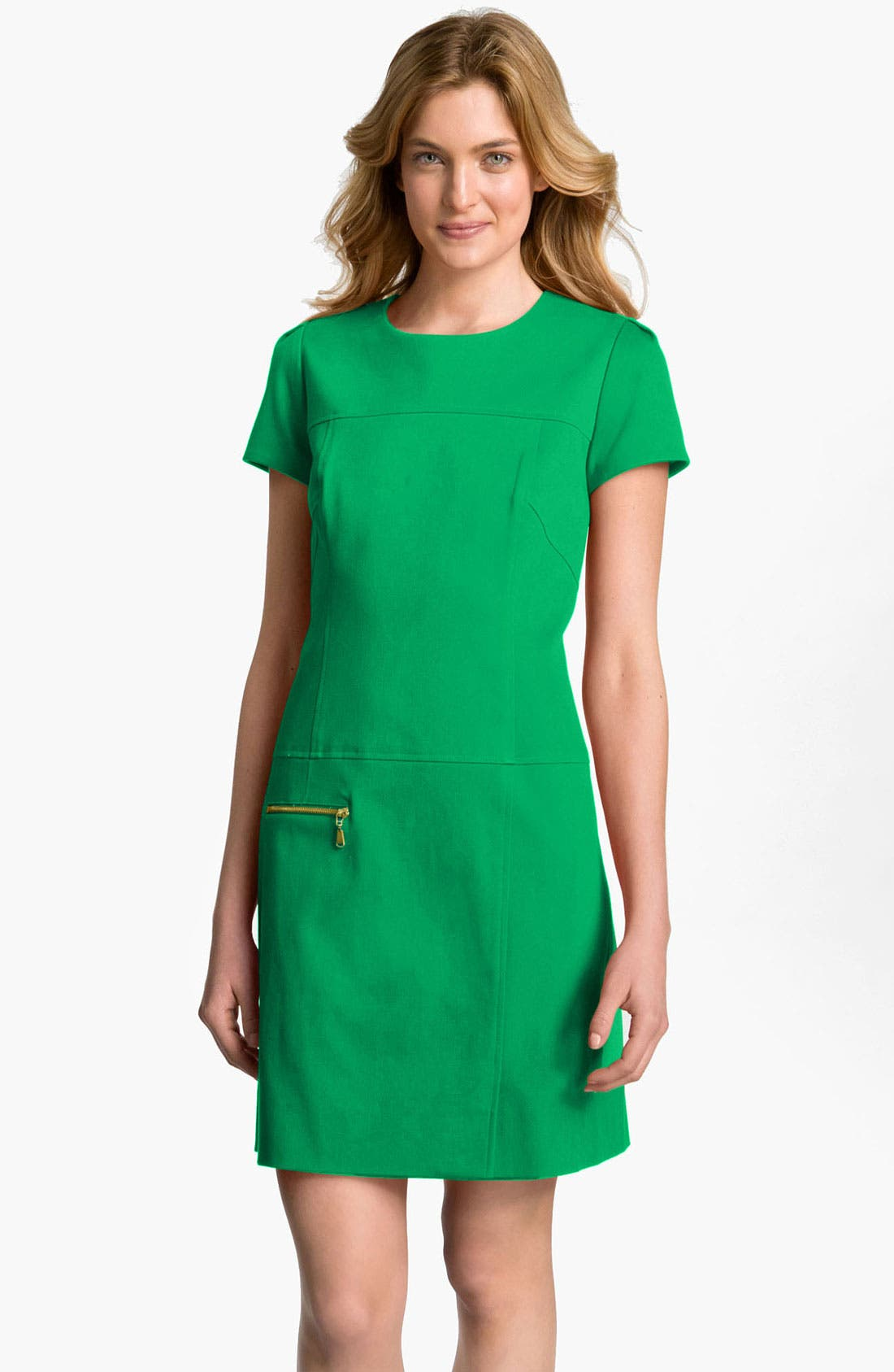Alternate Image 1 Selected - Tahari by Arthur S. Levine Exposed Zip Shift Dress