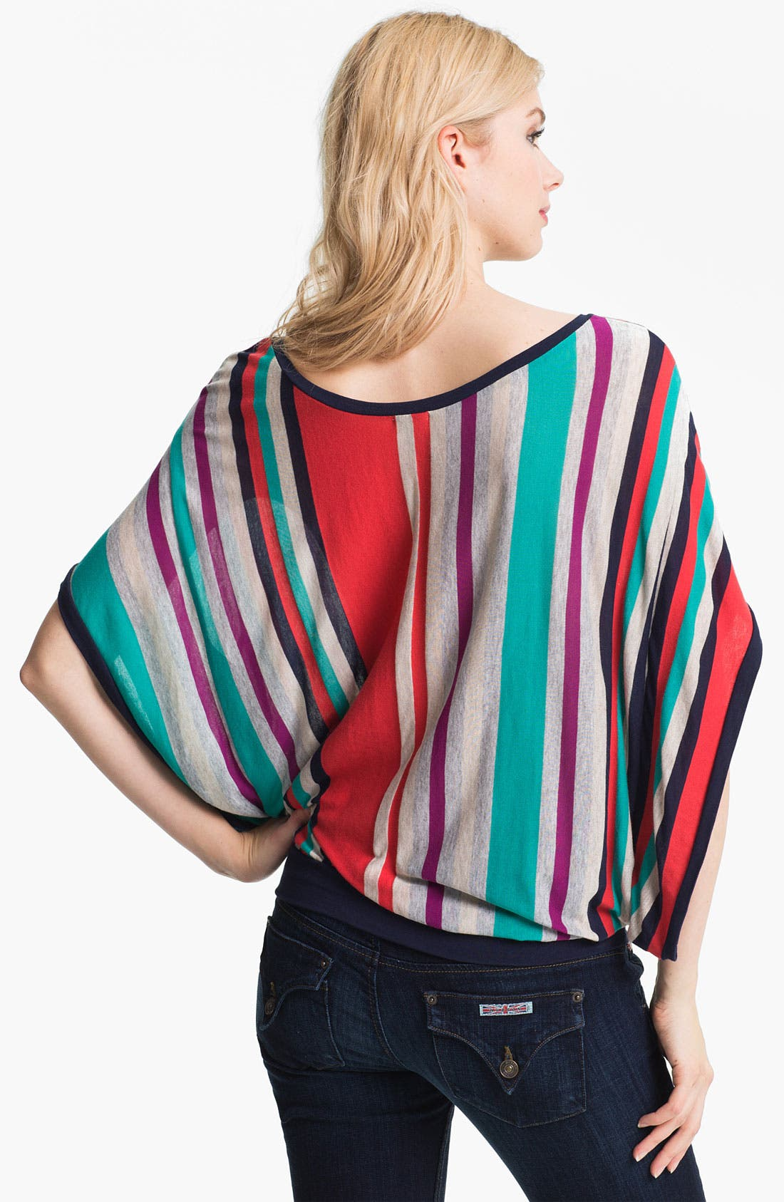 Alternate Image 2  - Ella Moss 'Zoey' Stripe Top
