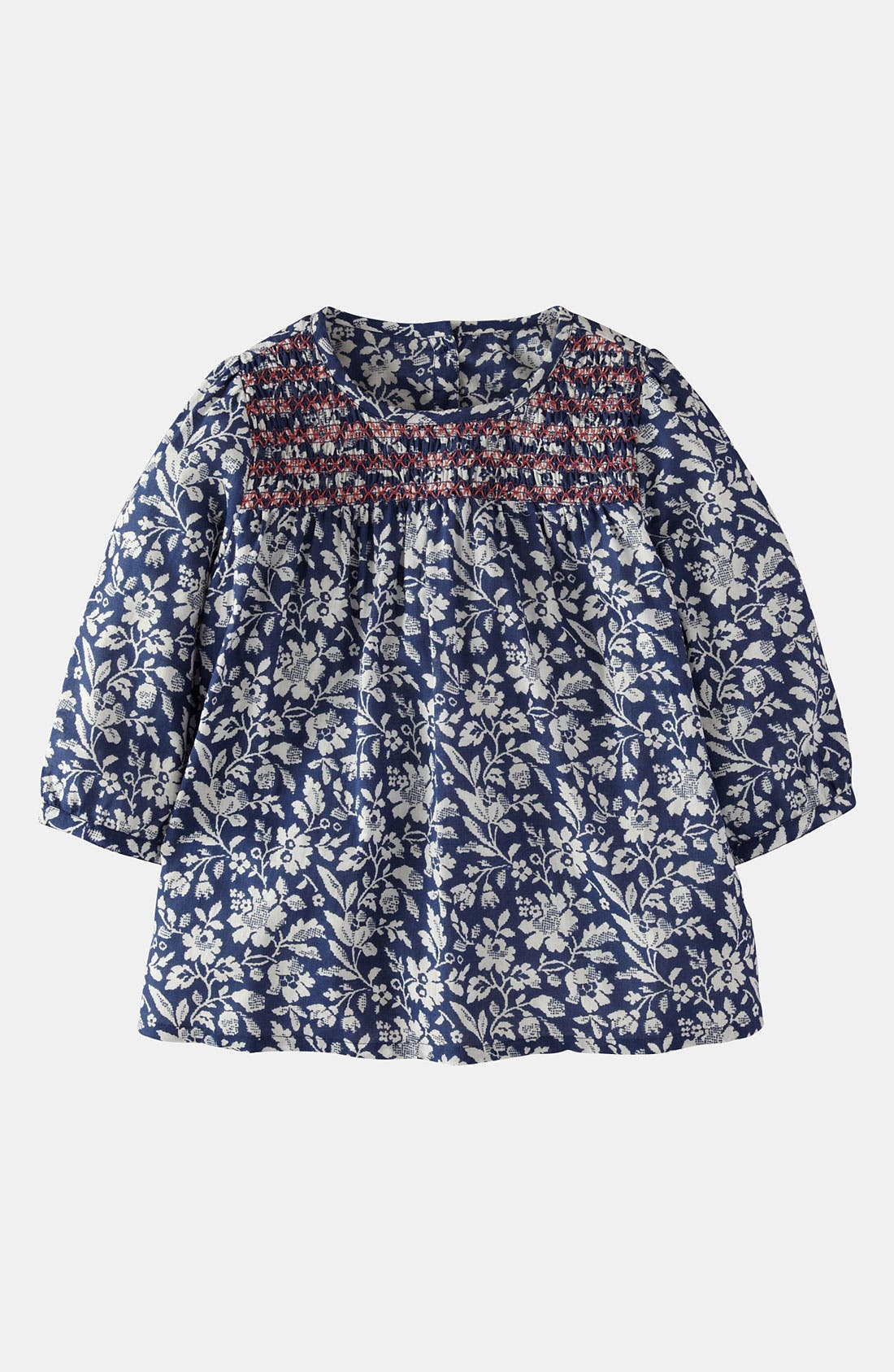 Main Image - Mini Boden Smocked Top (Little Girls & Big Girls)