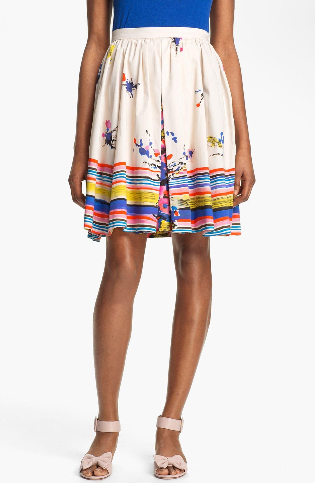 Main Image - RED Valentino Bouquet Print Skirt