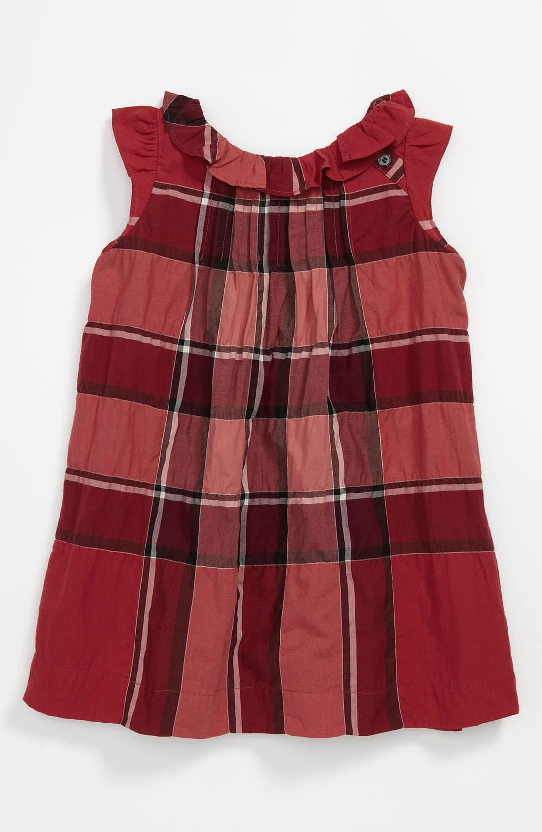 Main Image - Burberry 'Olly' Check Print Dress (Baby)